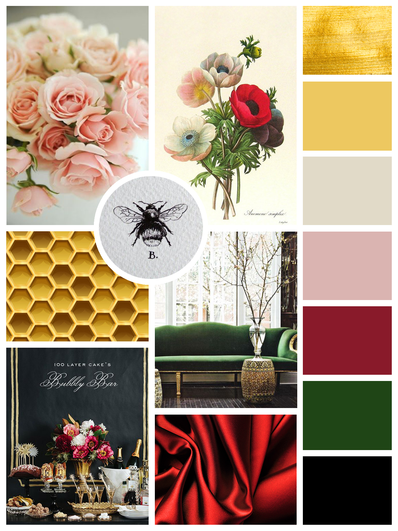 Images in mood board are not mine; they were sourced from various websites purely for inspirational purposes.