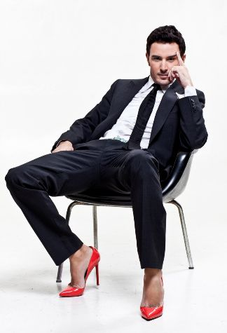 There's just something about a man in heels...