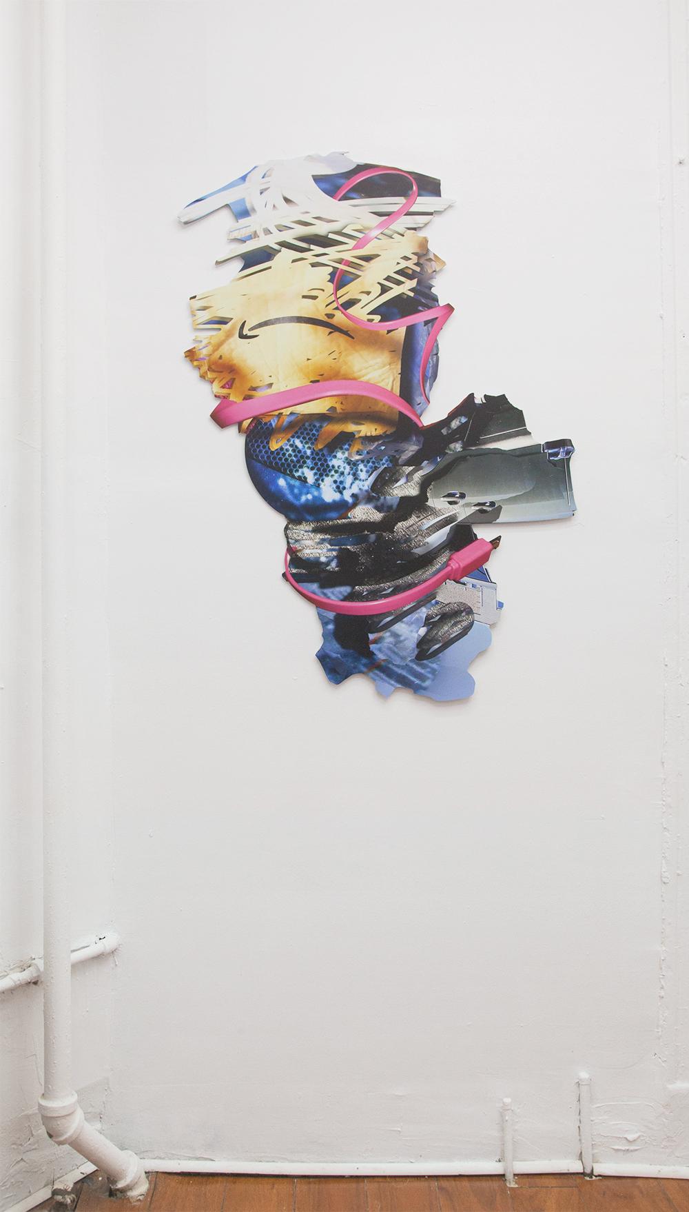 "Jason Isolini,  Untitled (Amazon Box, Pink Cord) , 2019, UV print on dibond, 43 x 32"""