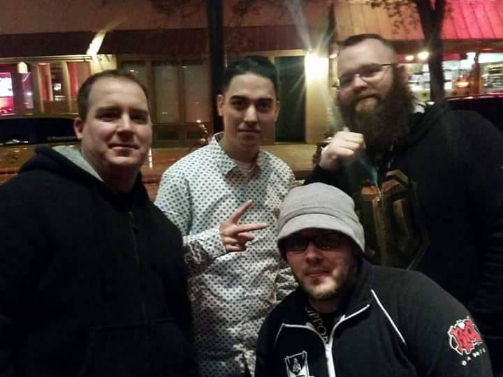 Cody Aebischer (left), Blake Swarnes (right) and Chad meeting Trick2g, a popular League streamer