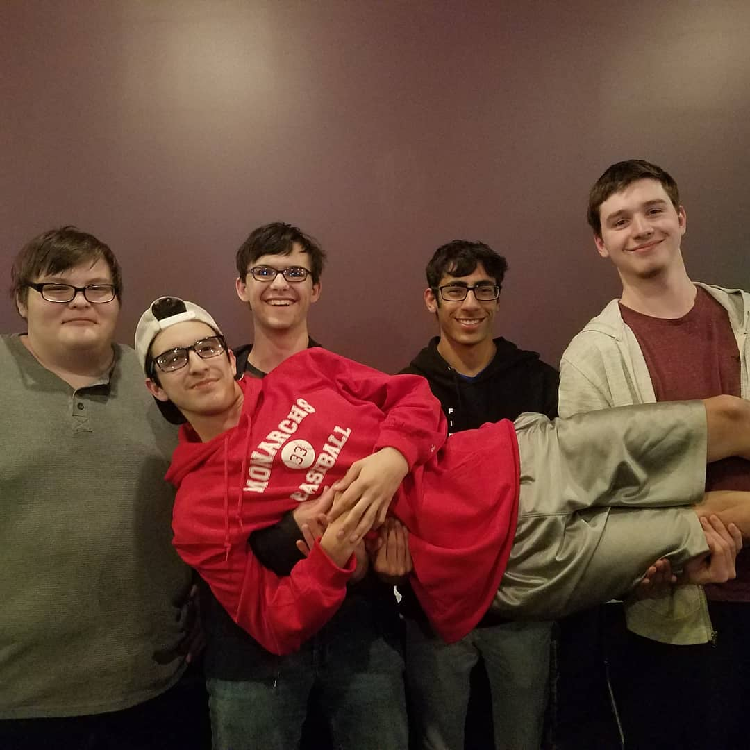 Back (Left to Right): GiveMeTheTendies, Theekiing123, DemonPrint, Reppit Front: FOTC 4thShot getting carried, as usual