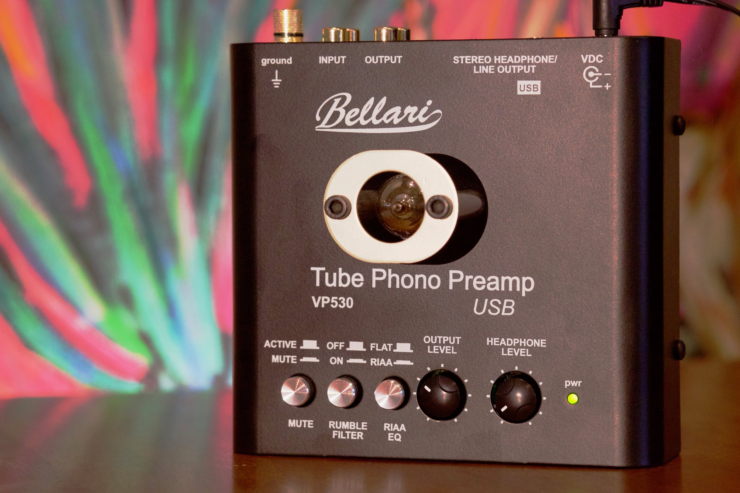 Bellari VP350 tube phono preamp w/ built-in A to D converter   Vacuum tube phono preamp w/ USB output and built in headphone amp   Sold