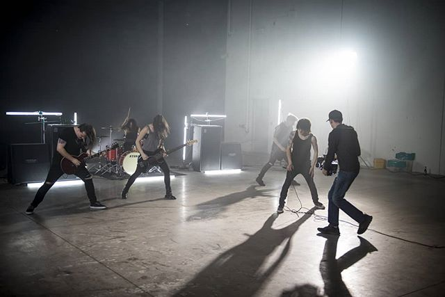 #tbt to shooting the video for our song Alone!