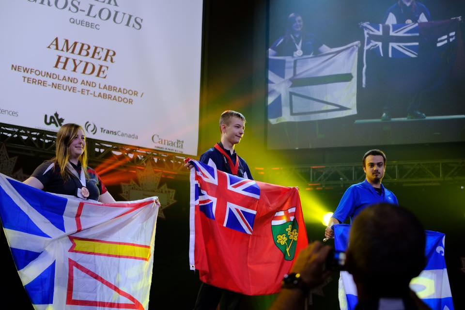 JAson at the Skills Canada Closing Ceremony 2016