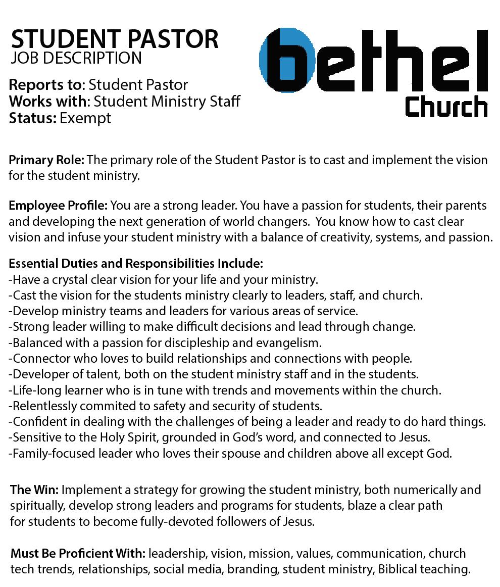 Bethel Church Student Pastor Job Description.png