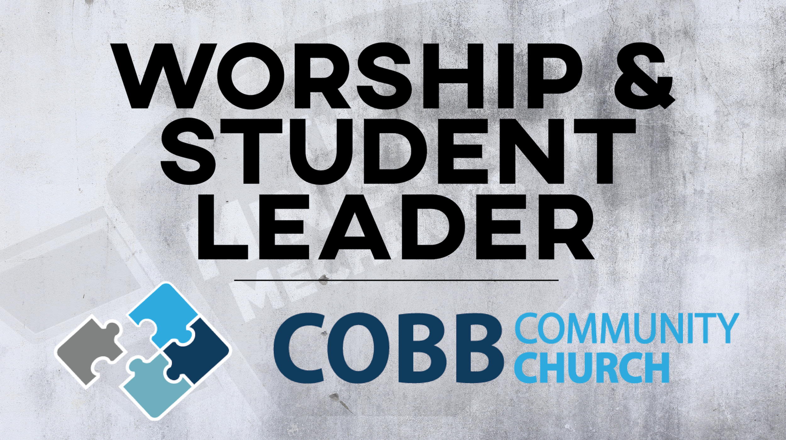 Cobb Community Church Worship and Student Pastor 16x9.png