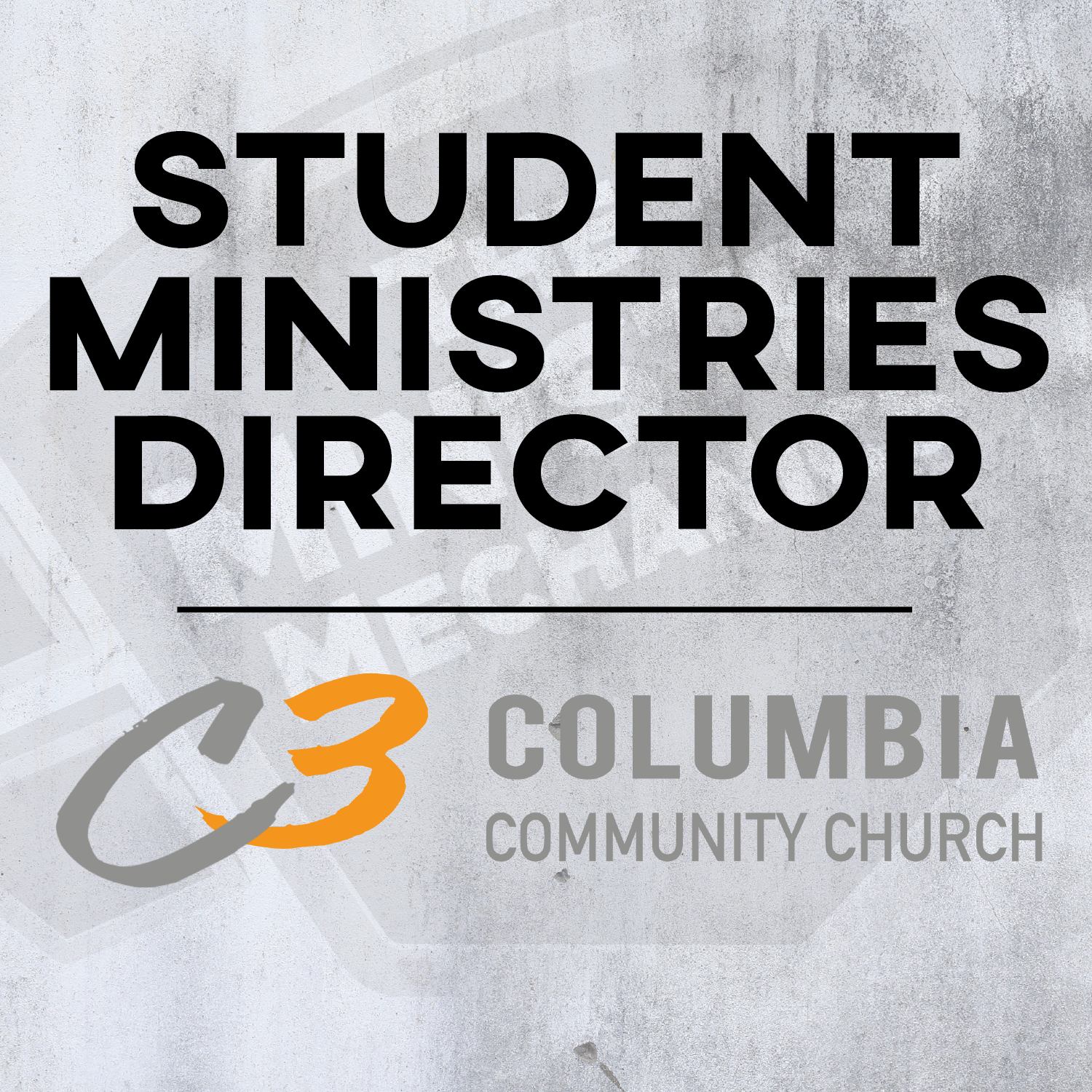 Columbia Community Church Student Ministries Director.png