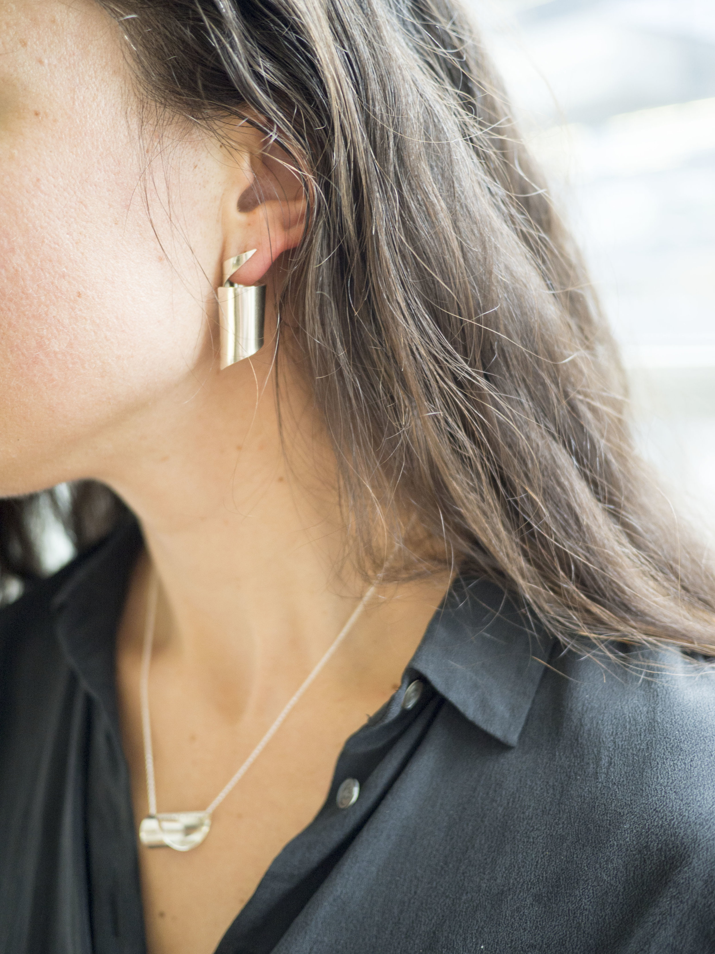 These post earrings can be swapped between your left and right ears for a slightly different effect.