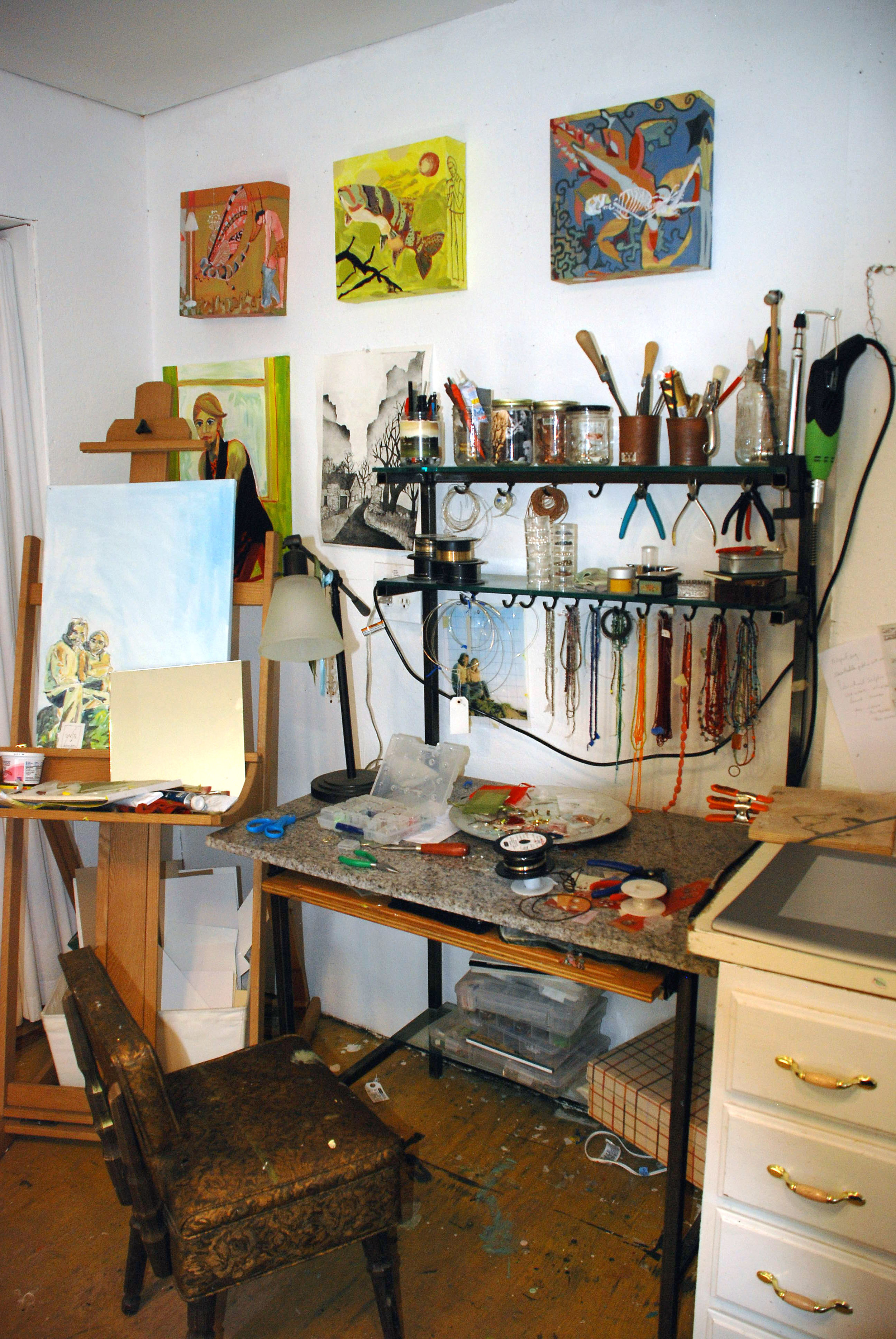 The studio at Eldorado Springs Art Center, 2009