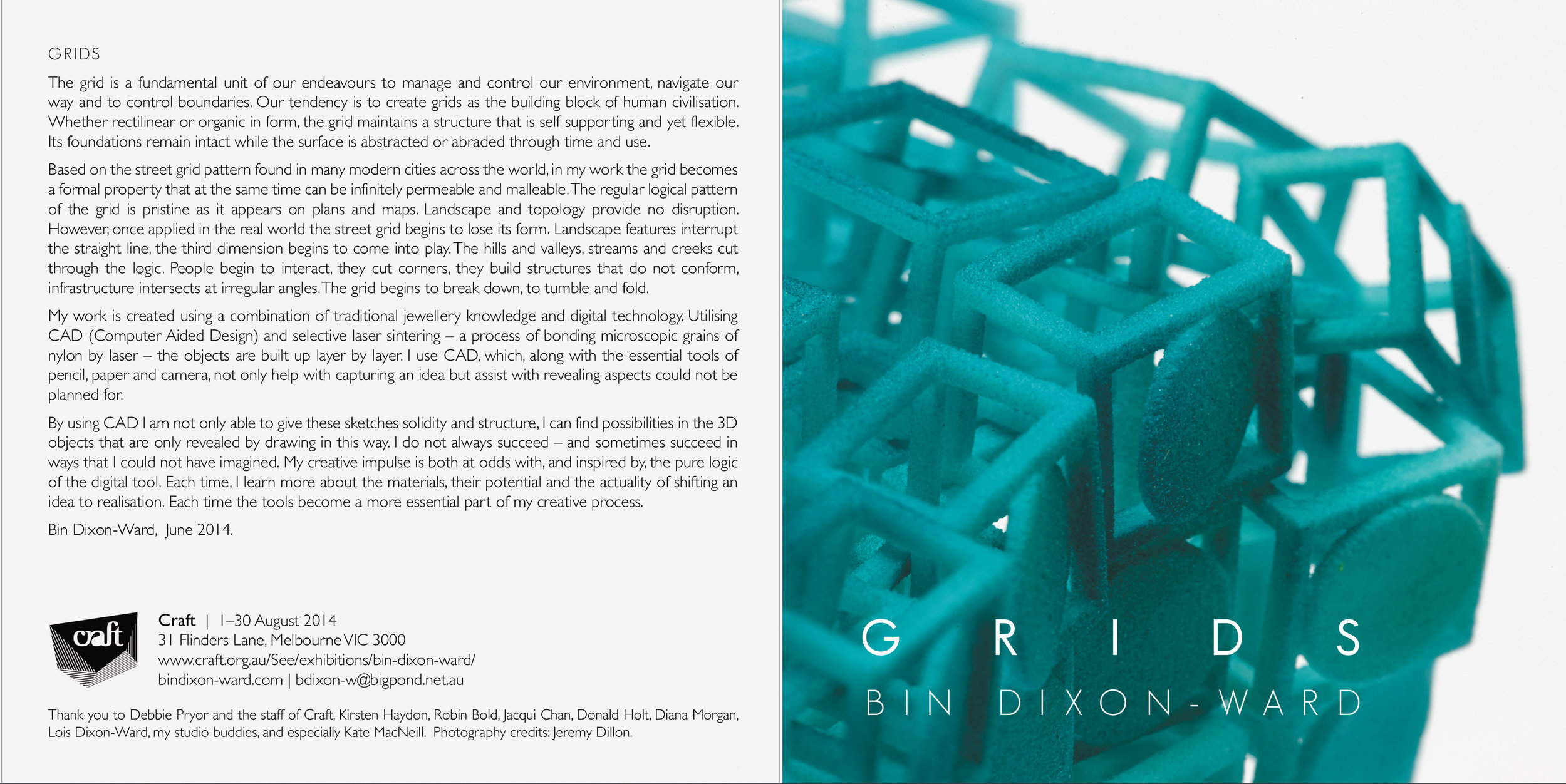 Bin Dixon-Ward Exhibition Catalogue