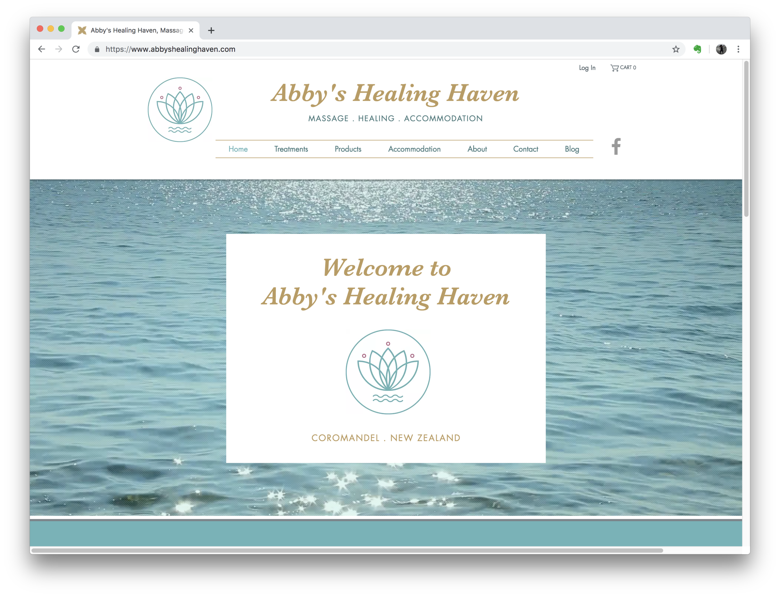Abby's Healing Haven Website (Wix)