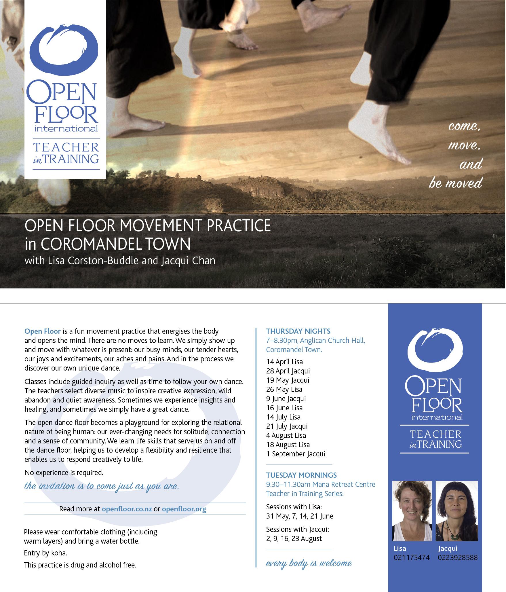 Coromandel Practice Sessions flyer