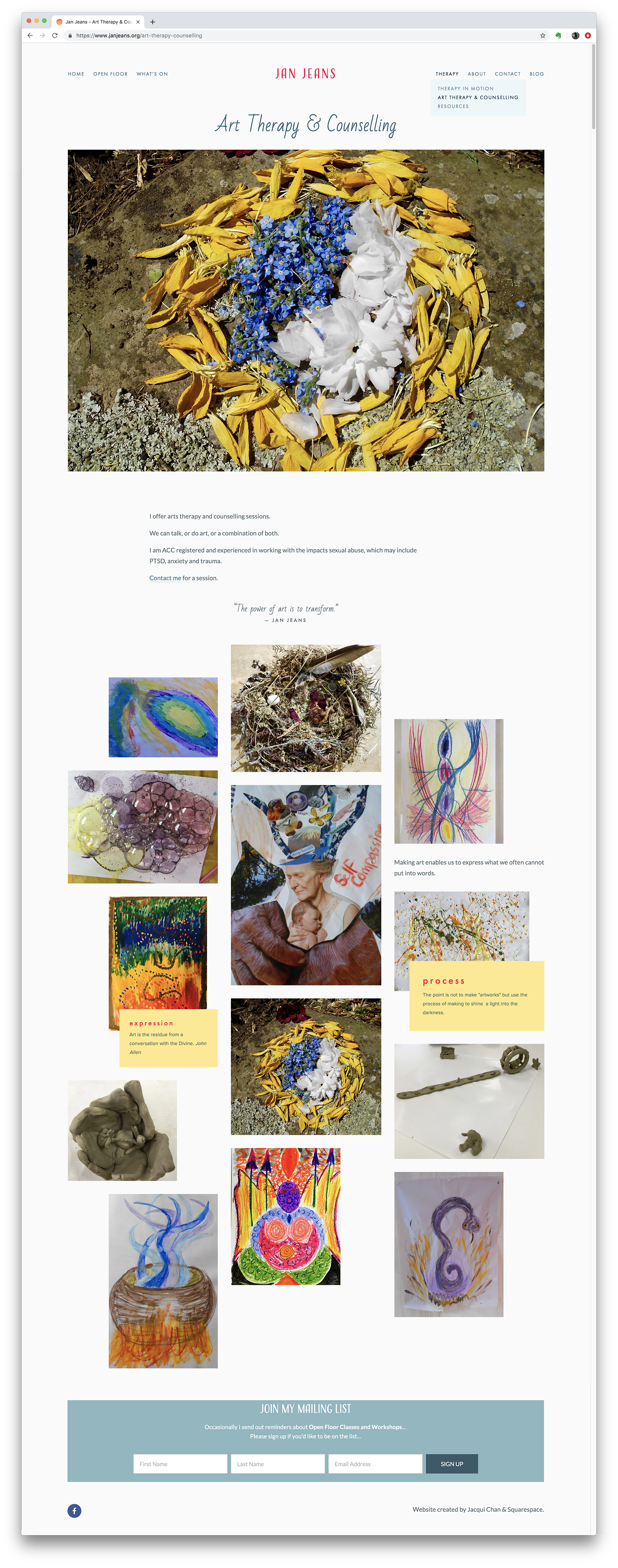 Art Therapy & Counselling Page