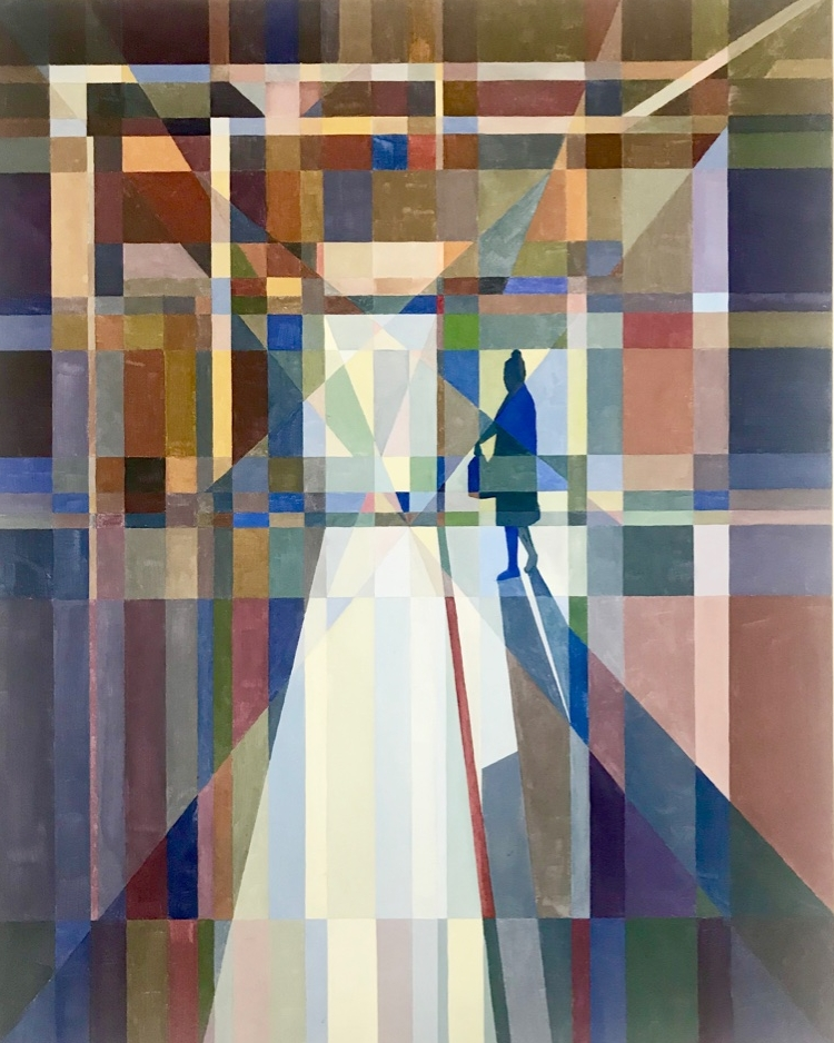 A Figure in the Hall, 36x24