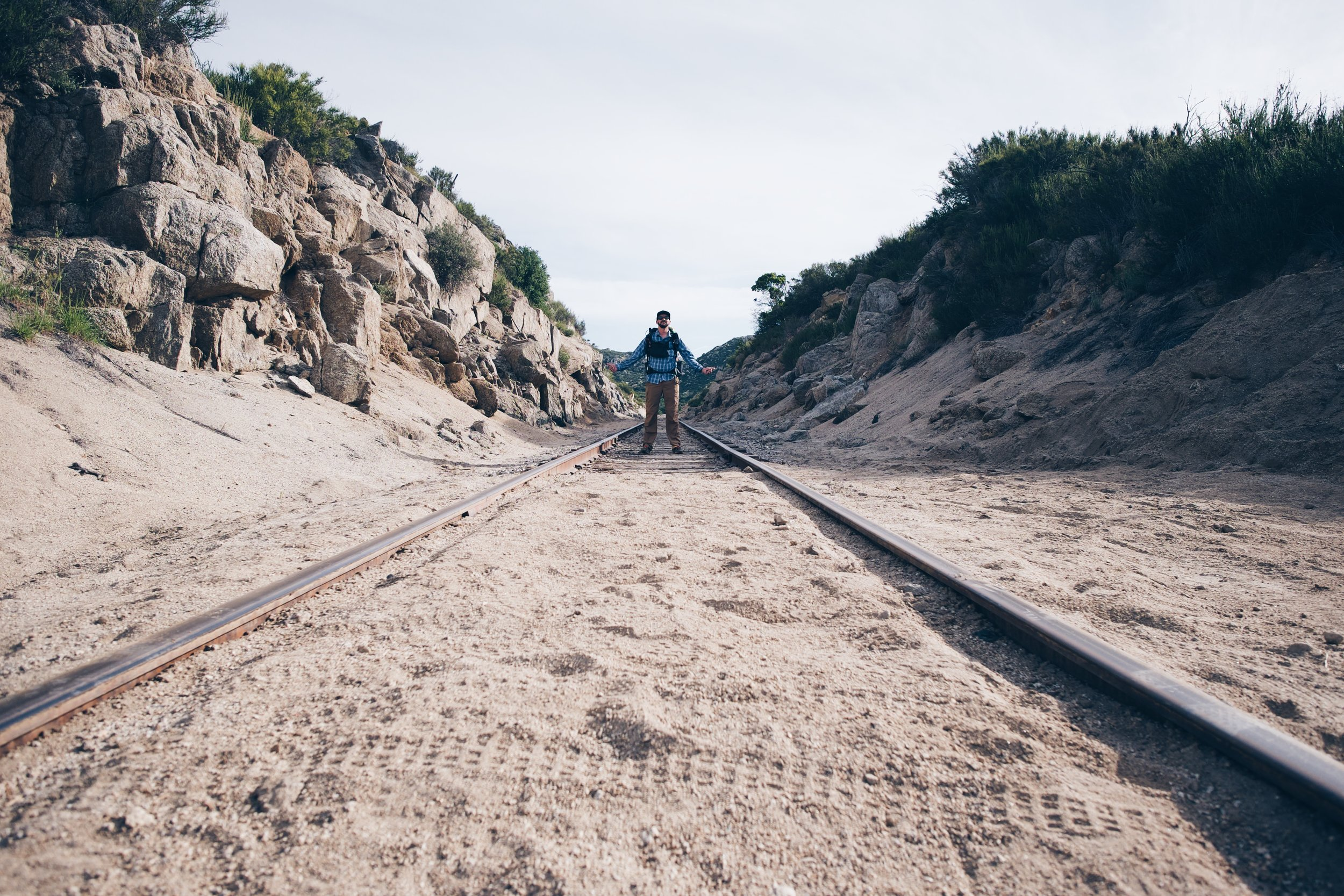 The infamous railroad at mile 3. Russell snapped the photo for me.