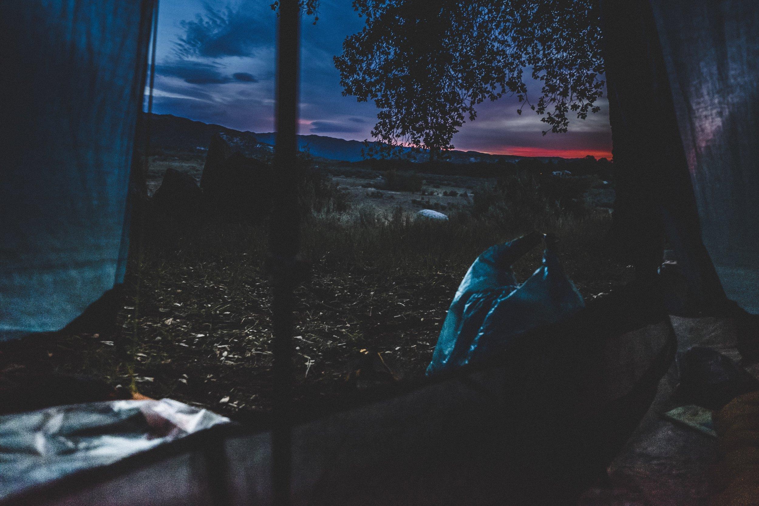 Sunset from my condo, Lake Morena