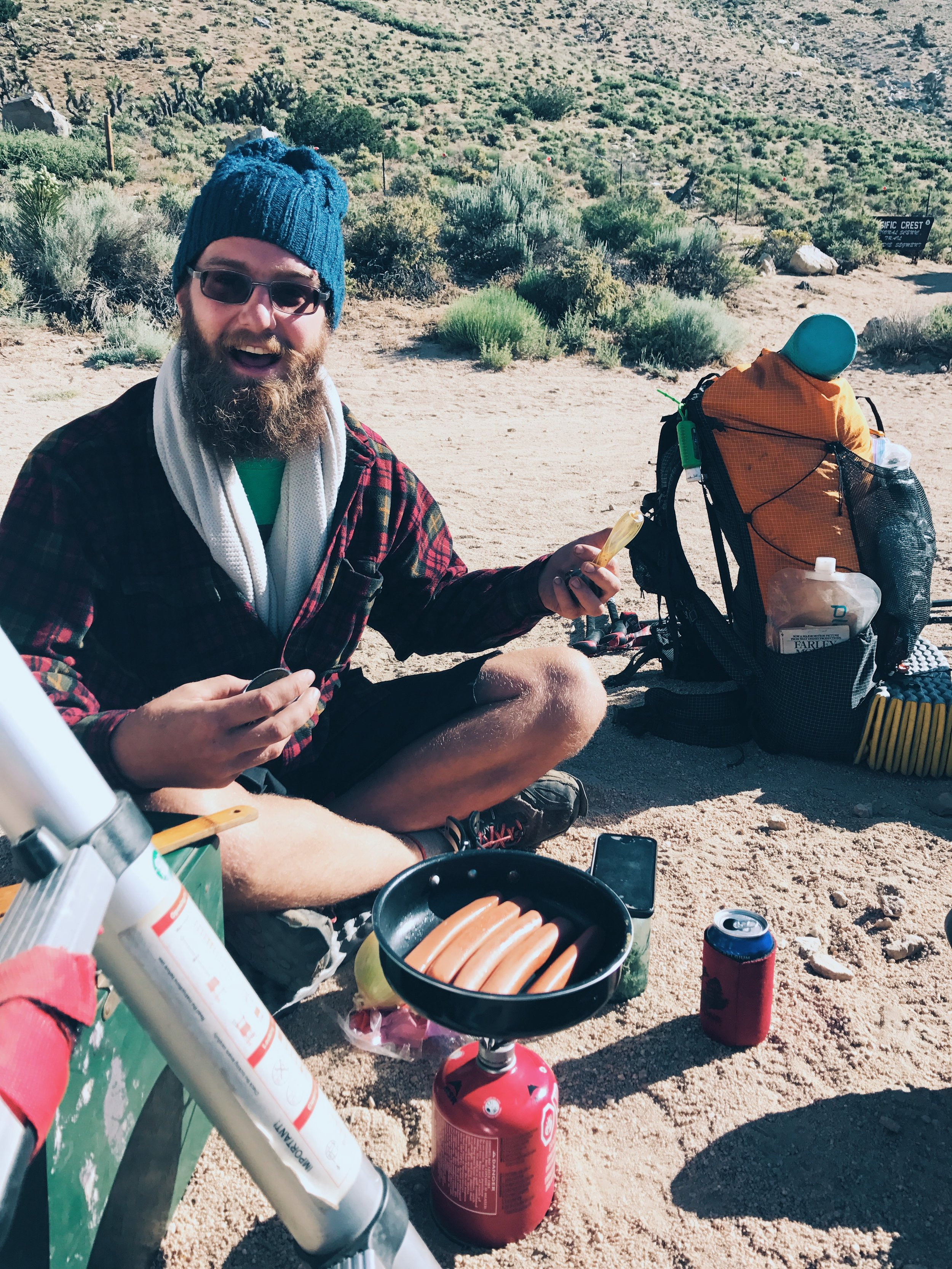 brewhike makes his own beer on the trail, one pint at a time