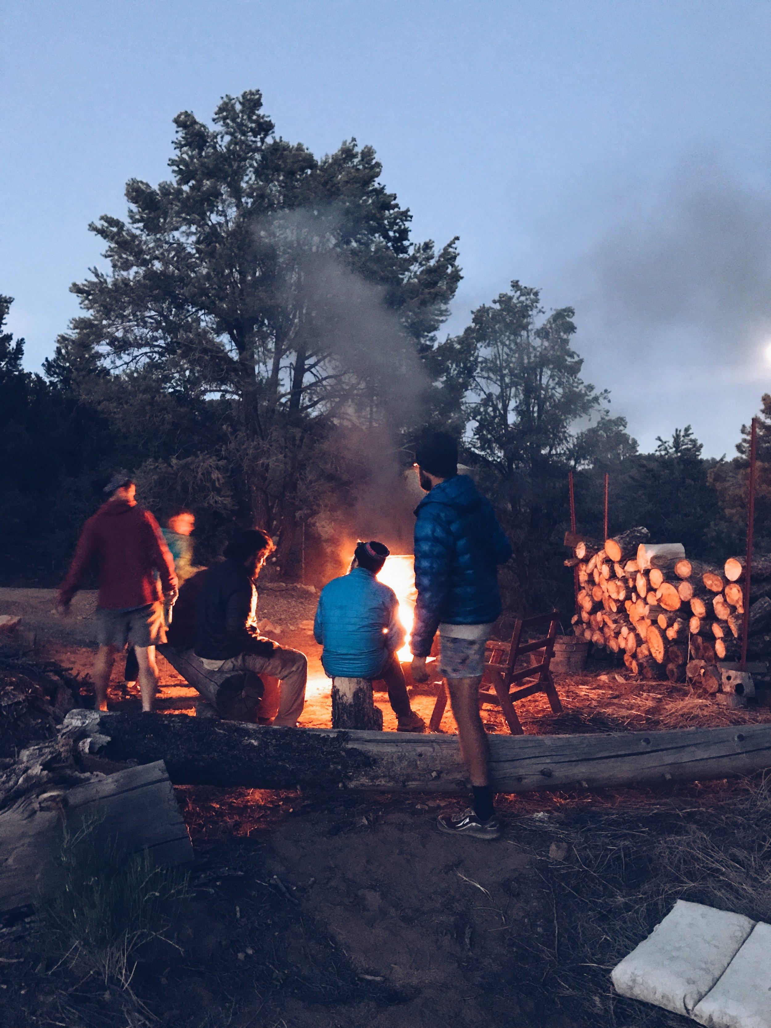 bonfire at tom's place
