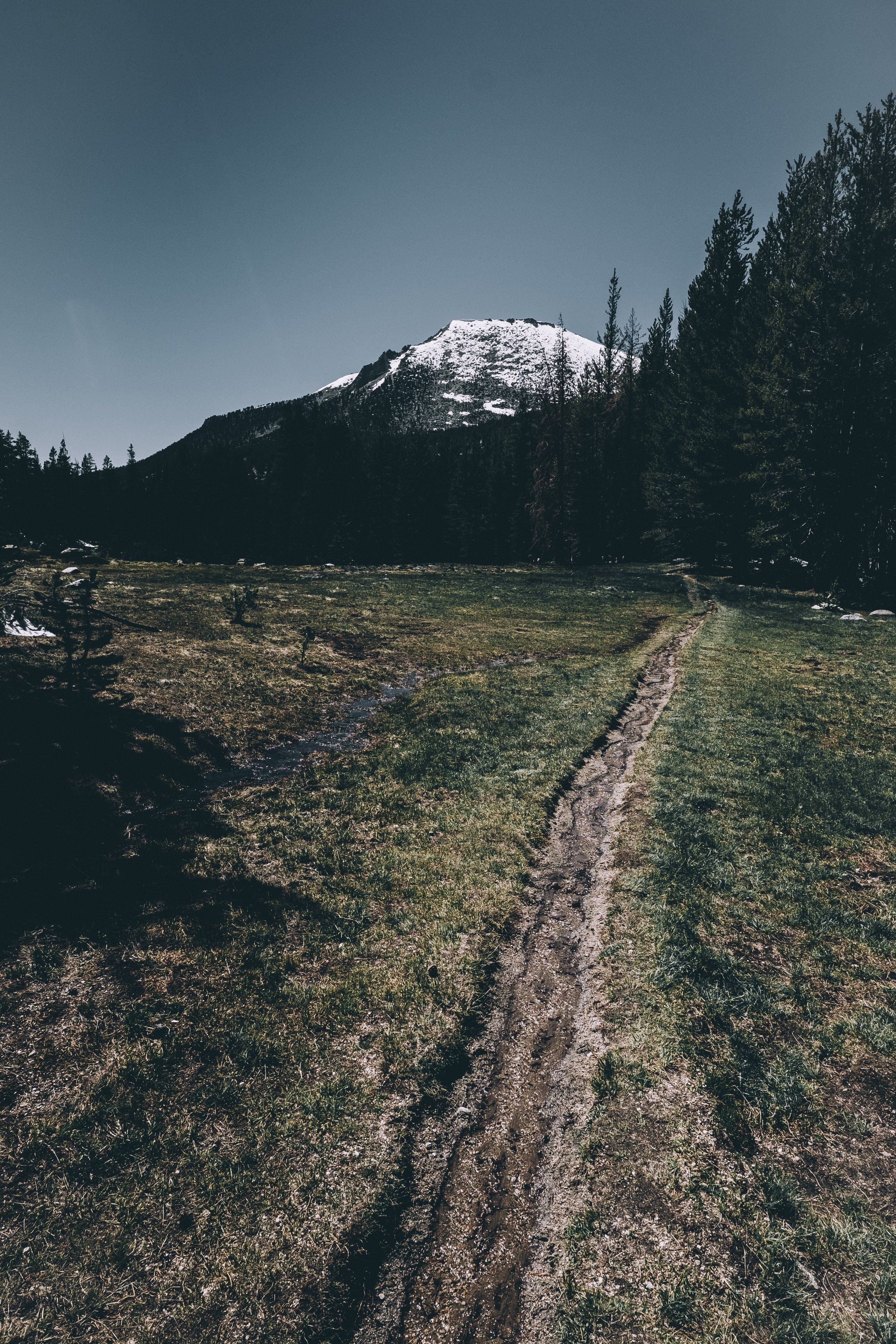 The juntion to the JMT, dirt trail makes things much easier.
