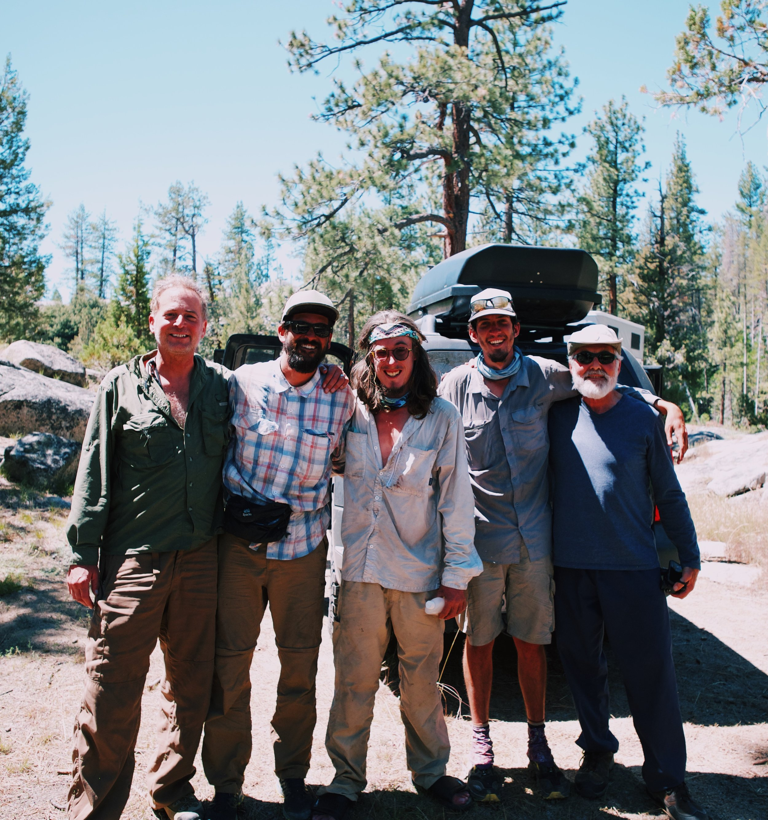 our trail magic: some old professors gave us shots of tequila and a ride to VVR