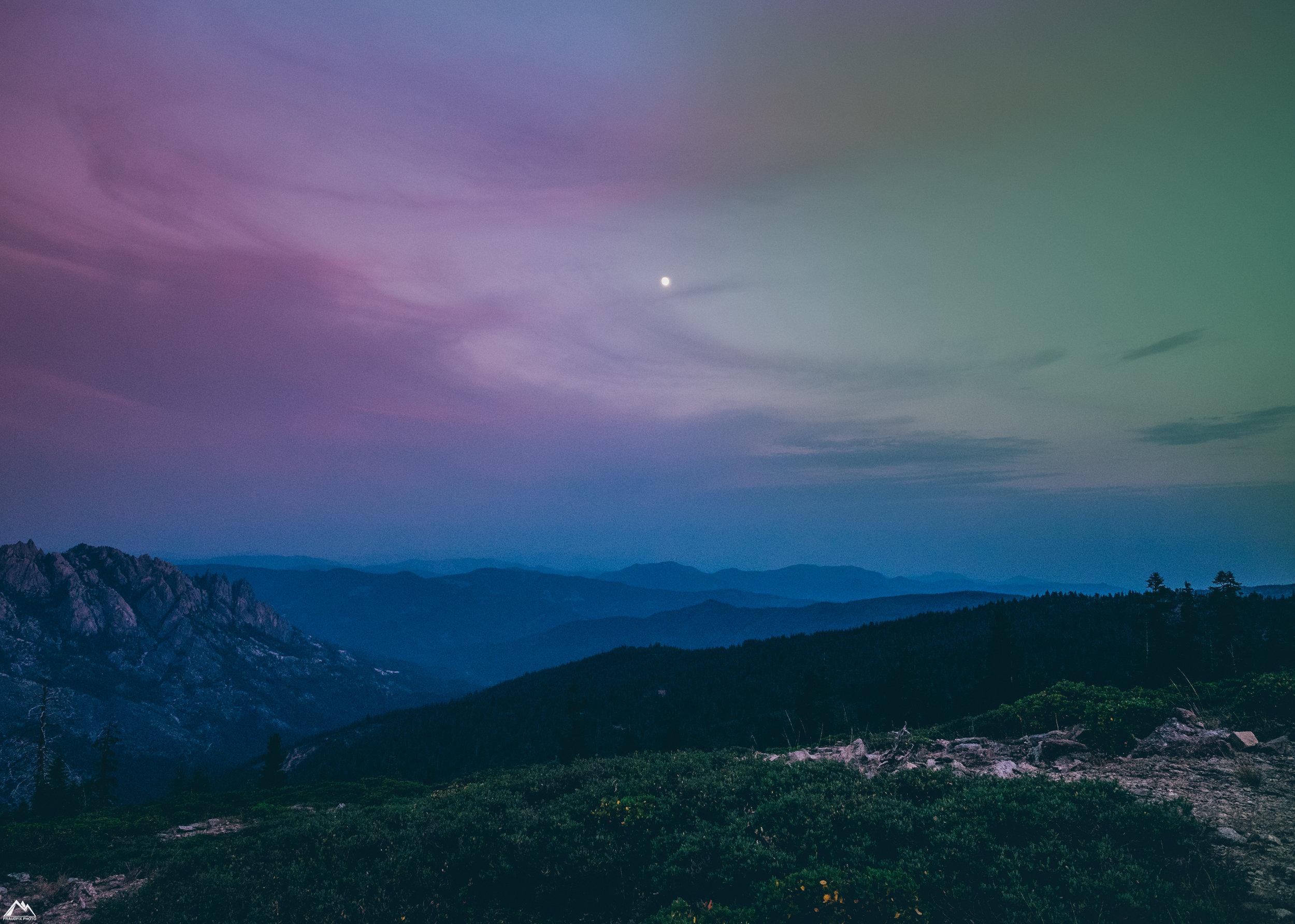 valley by moonlight