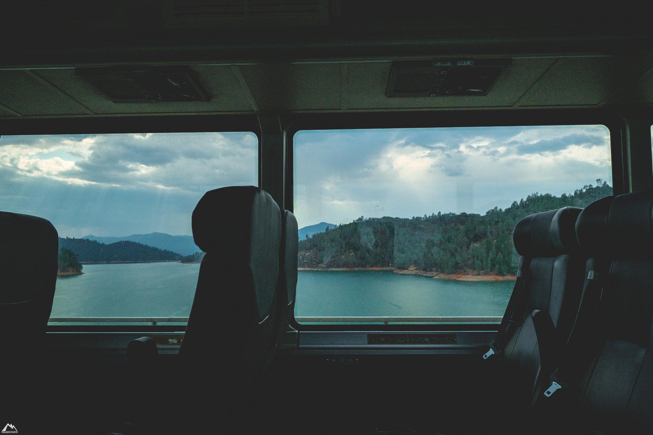 passing over shasta lake