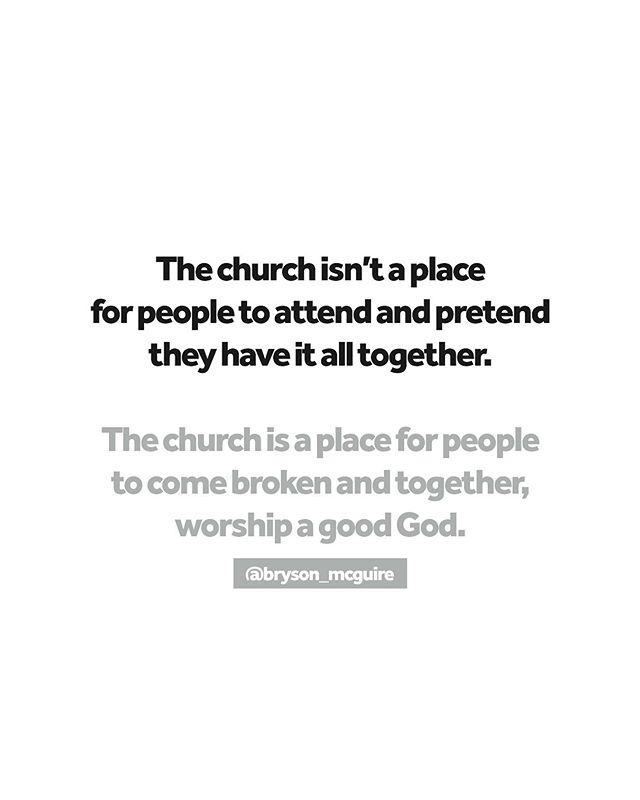 The church isn't a place