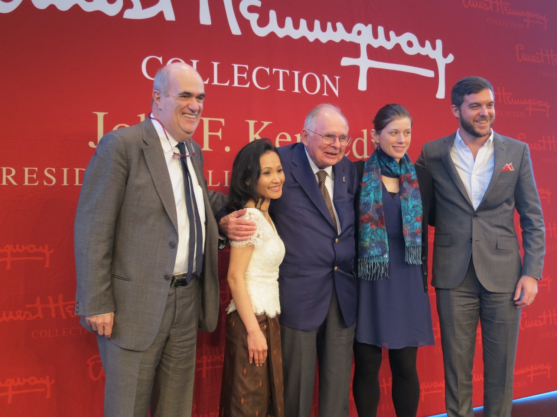 Colm Tóibín, Vaddey Ratner, Patrick Hemingway, Jennifer duBois and Kevin Powers at the 2013 PEN/Hemingway Award Ceremony, John F. Kennedy Library