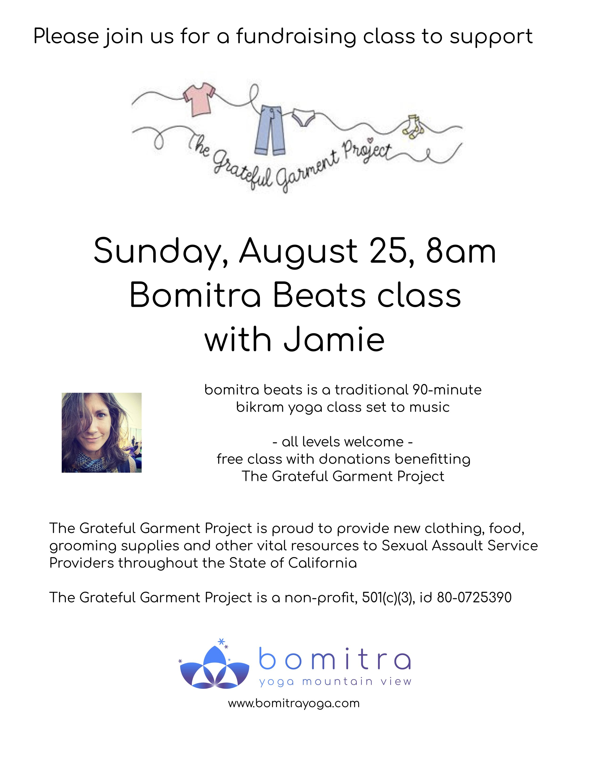 Learn more about The Grateful Garment Project  here .   Reserve your space today!