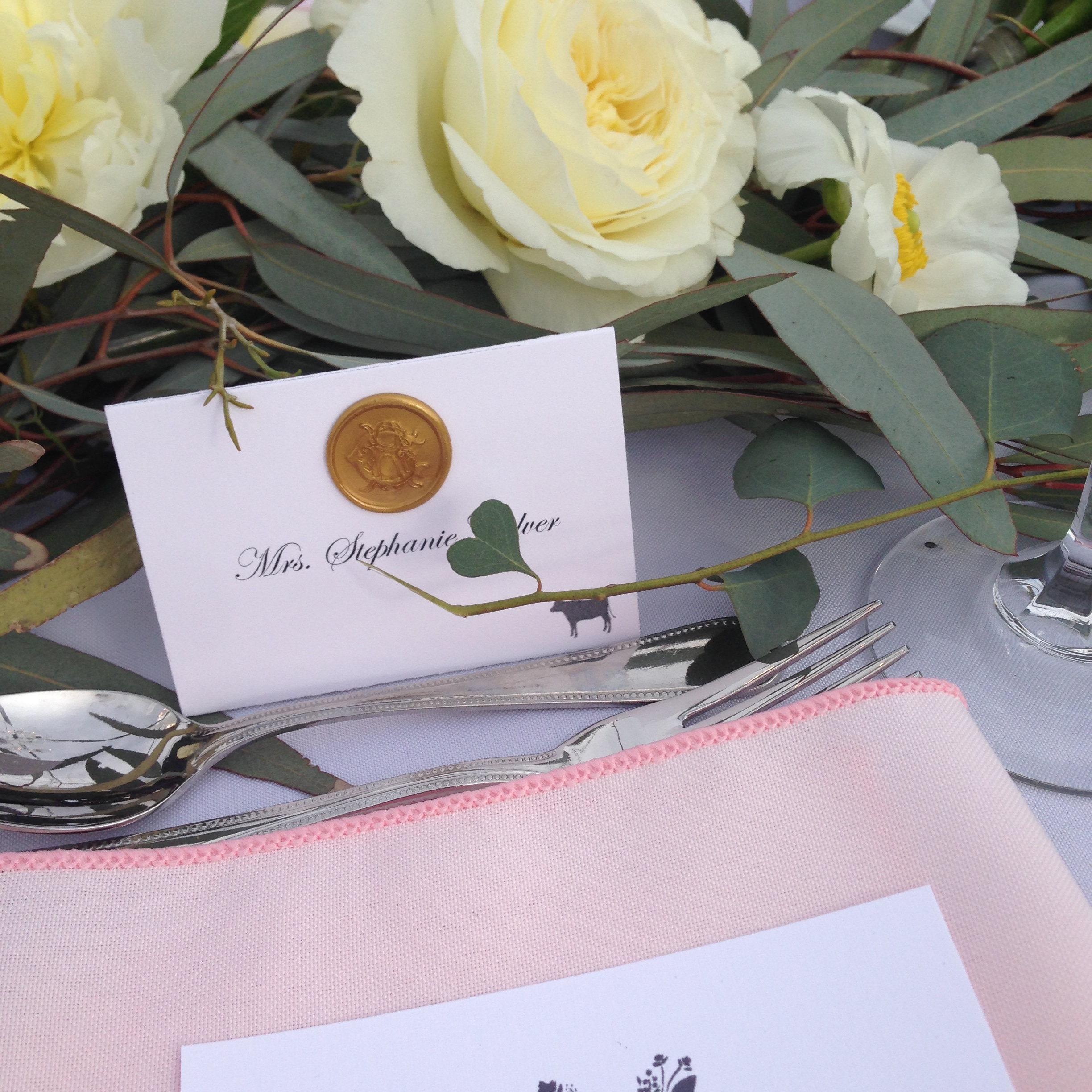 heart shaped eucalyptus leaf for the bride and groom