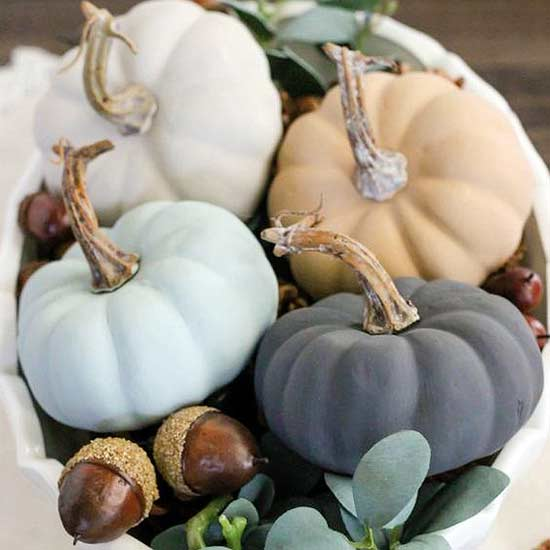 We love making our own fall decorations by painting pumpkins. Paint real or craft store pumpkins in our Pumpkin Painting Workshop.