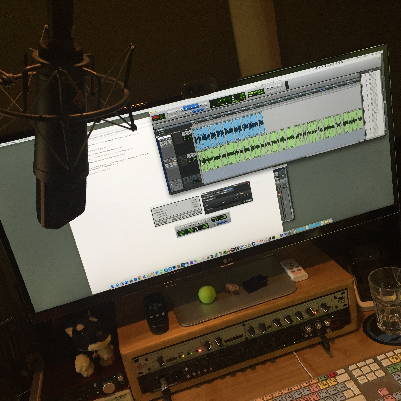 Mike Cooper - home voiceover studio