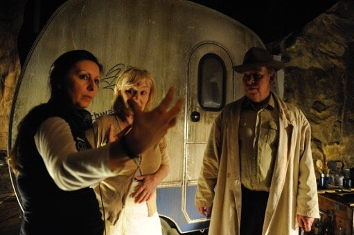 Director Thérèse Ahlbeck with Eva Fritjofson and Bengt CW Carlsson. Photo: Anders Kämpe.