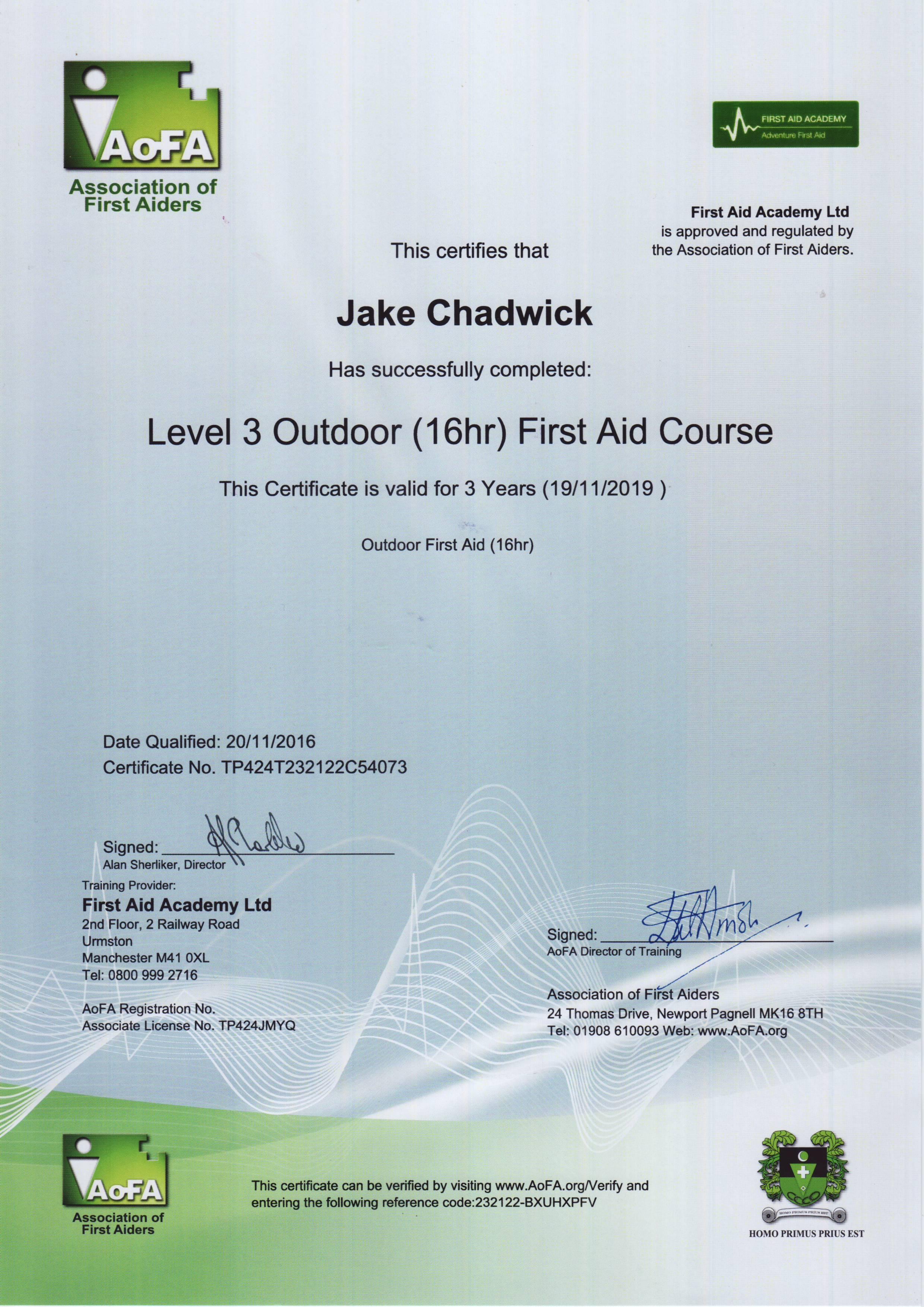 Jake Chadwick First Aid.JPG