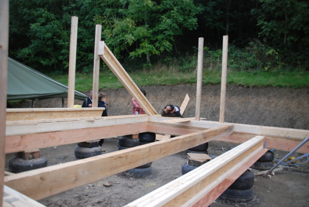 'mega-beam' in the bottom right, the other beam is the mez beam, before it is raised up