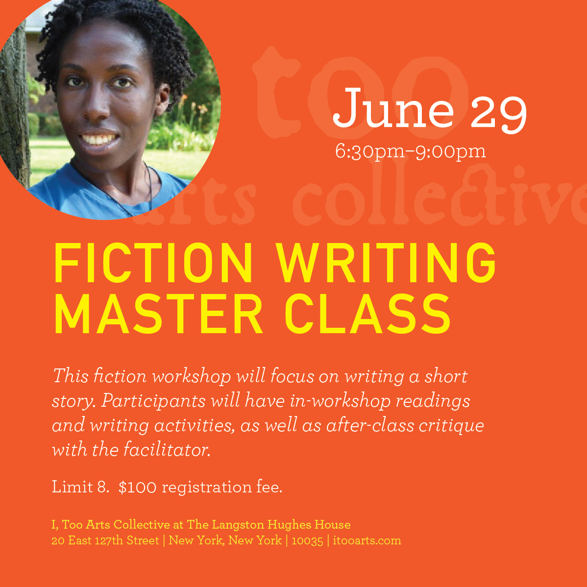 This master class will be taught by Jennifer Baker. Jennifer Baker is a publishing professional with 13 years experience, creator/host of the Minorities in Publishing podcast, panels organizer for the nonprofit We Need Diverse Books, and social media director and writing instructor for Sackett Street Writers' Workshop. She is the editor of the forthcoming short story collection Everyday People: The Color of Life with Atria Books. And she has contributed articles and reviews to Forbes.com, The Billfold, and Bustle as well as other online publications.  Please note there will be no day of registration or drop ins.