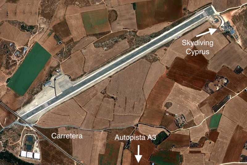 Mapa de cómo llegar a Kingsfield Airport donde está Skydiving Cyprus.