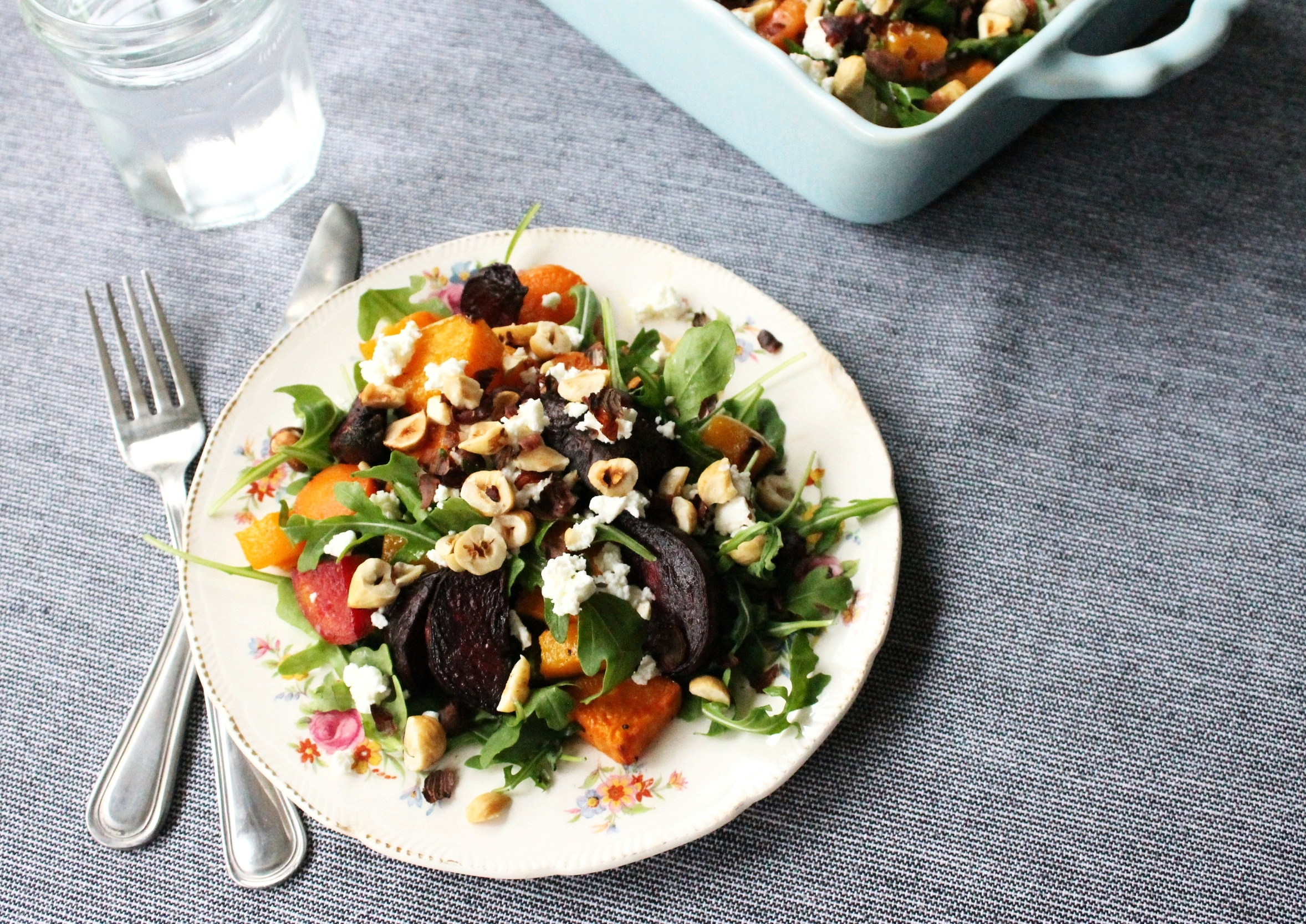 Roasted fall vegetable salad with hazelnuts and chevre | Beloved Kitchen