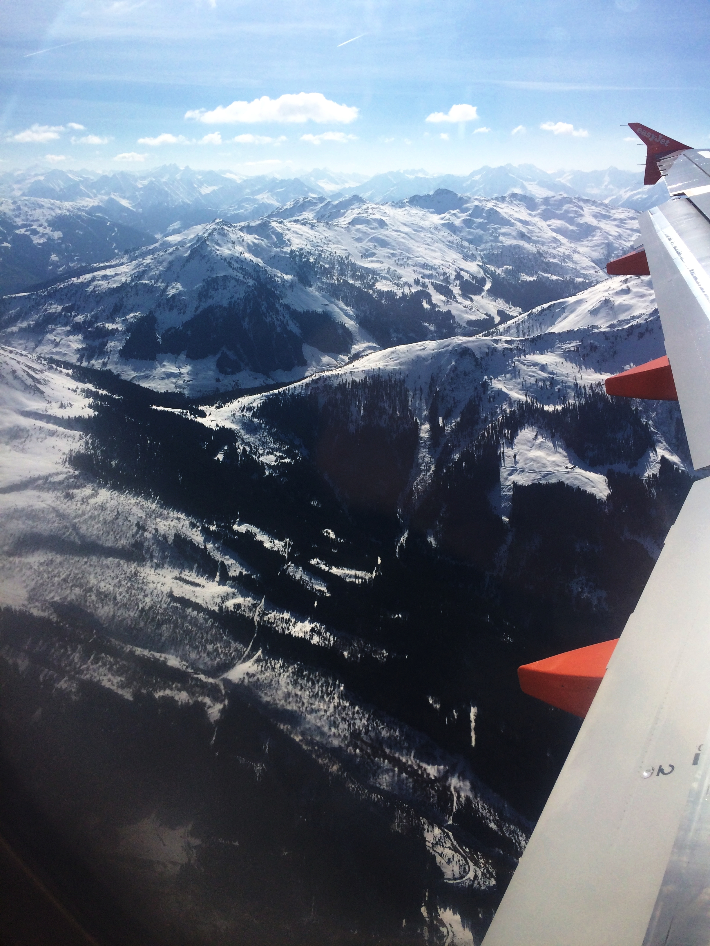 The view from the airplane on the way to Innsbruck, Austria.