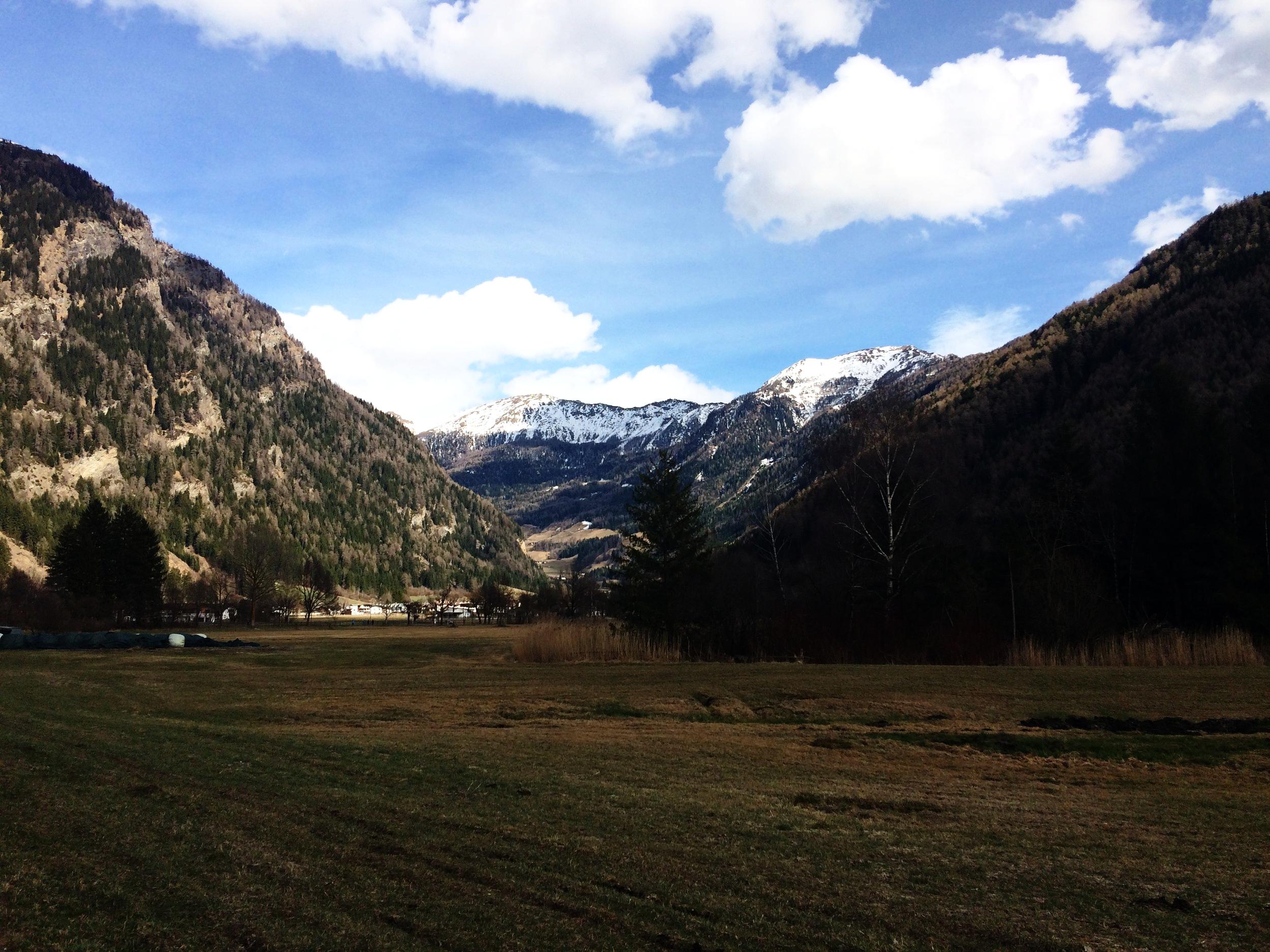 Walking near Sterzing, South Tyrol.