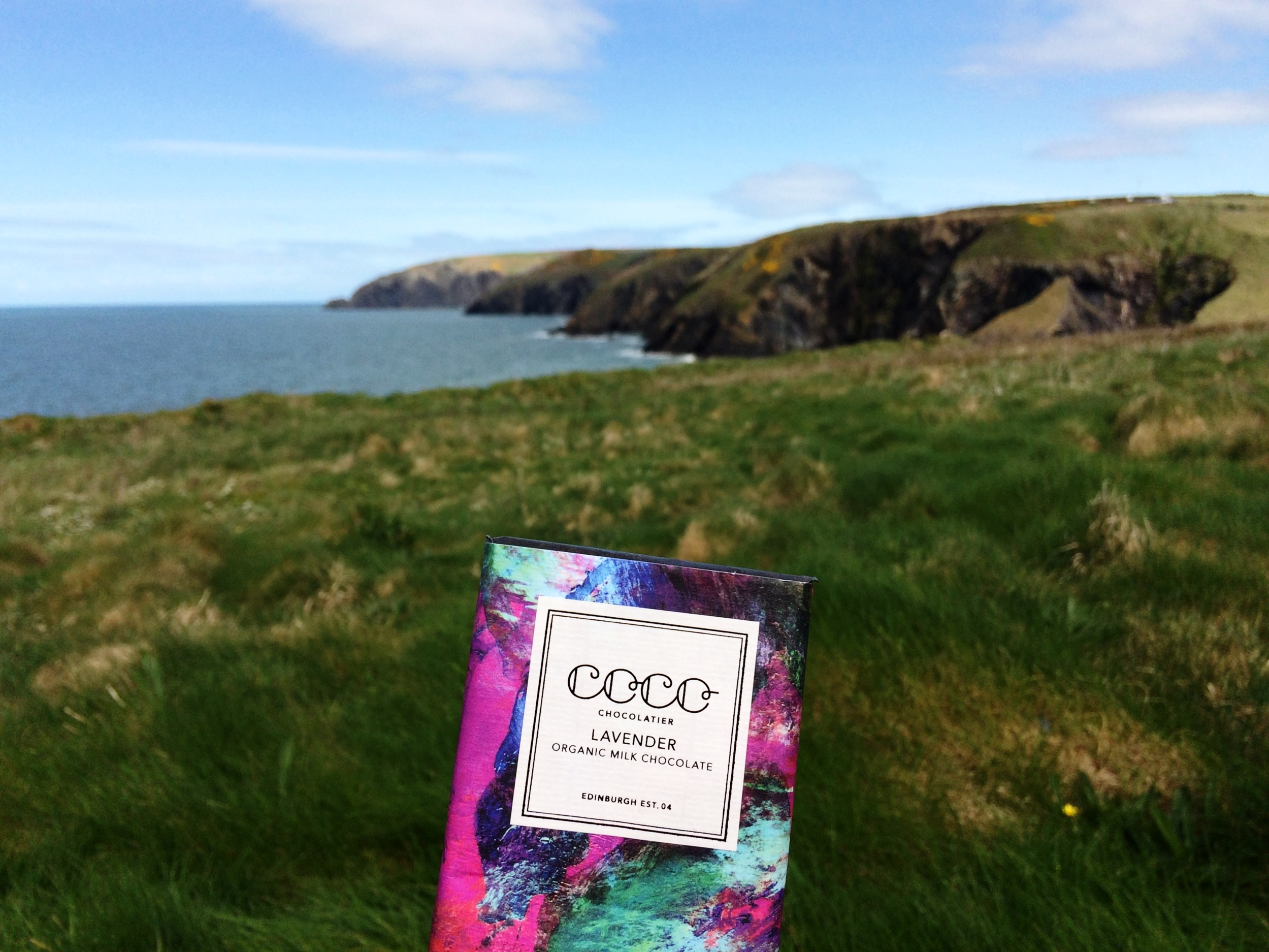 The amazing lavender chocolate we enjoyed as part of our picnic in Moylegrove