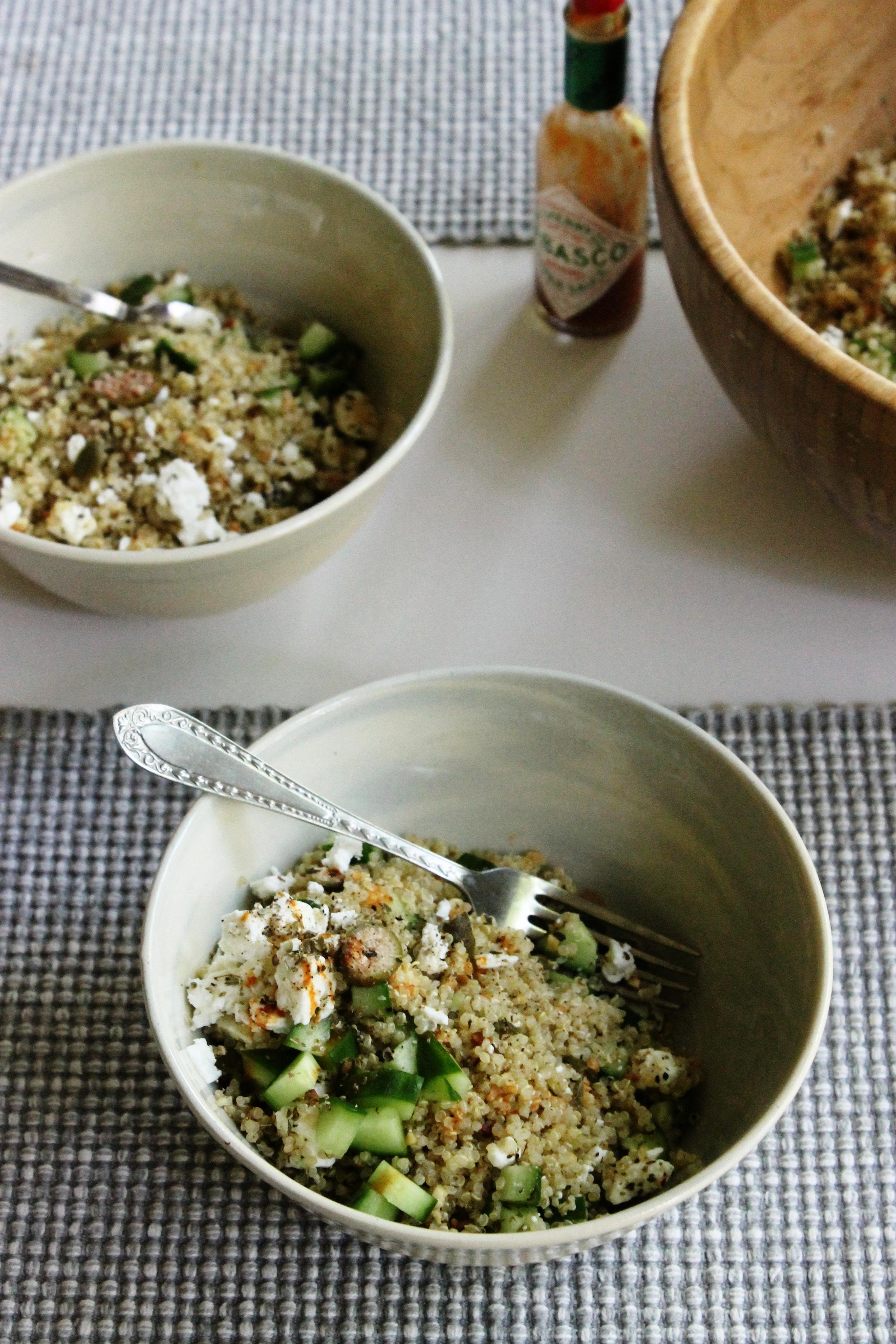 Mediterranean quinoa salad   Beloved Kitchen