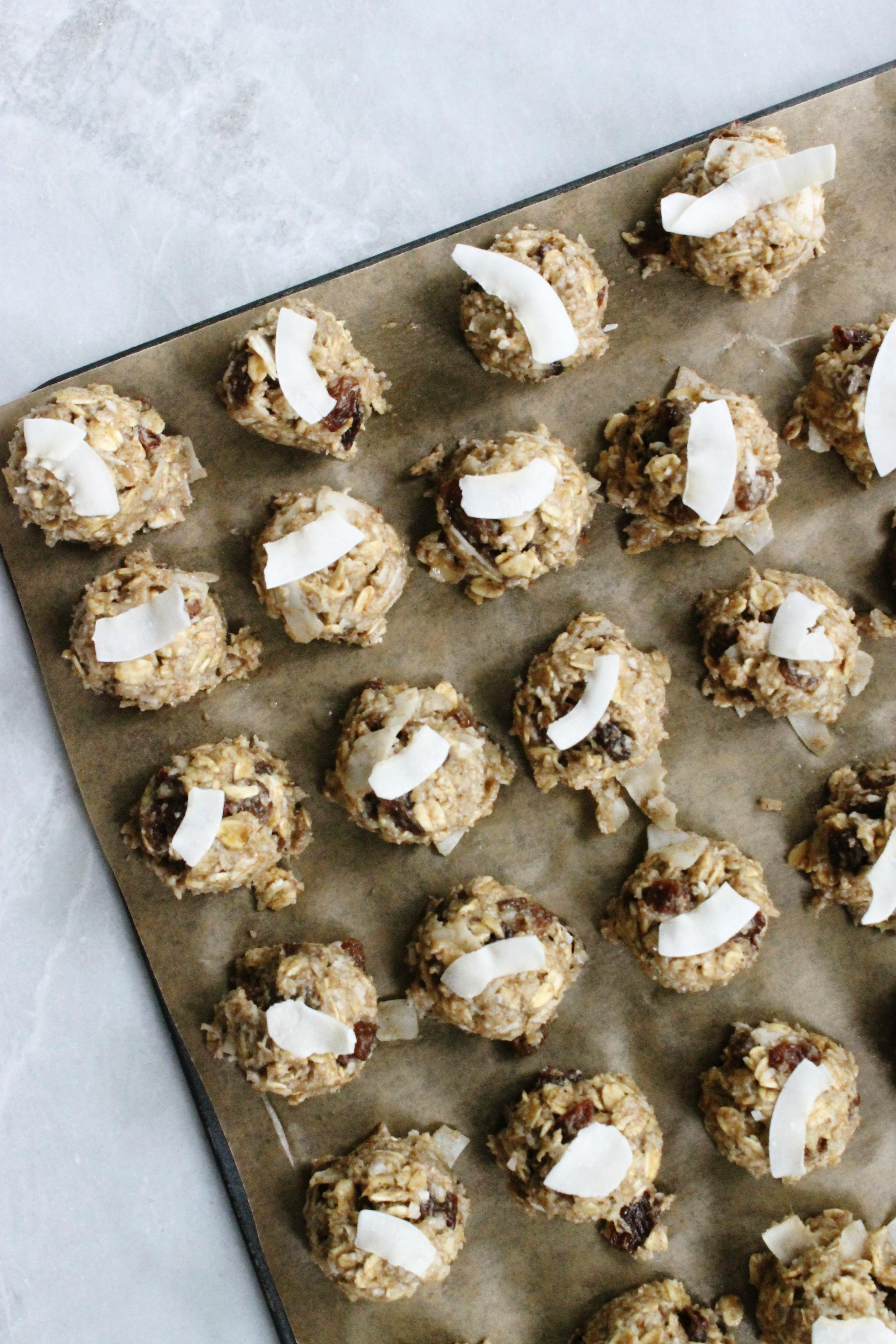Healthy coconut-raisin cookies   Beloved Kitchen