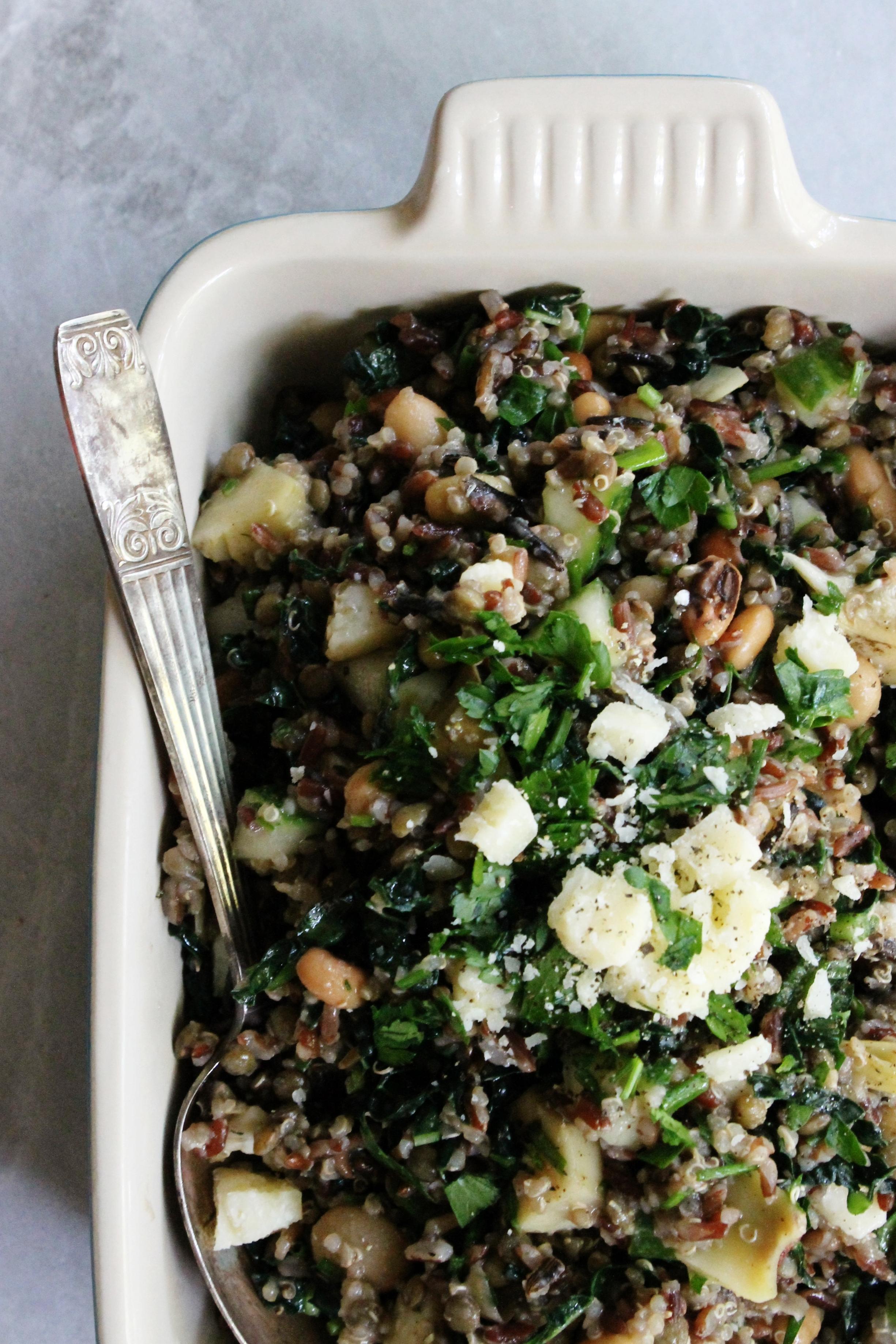 Loaded supergrain salad | Beloved Kitchen
