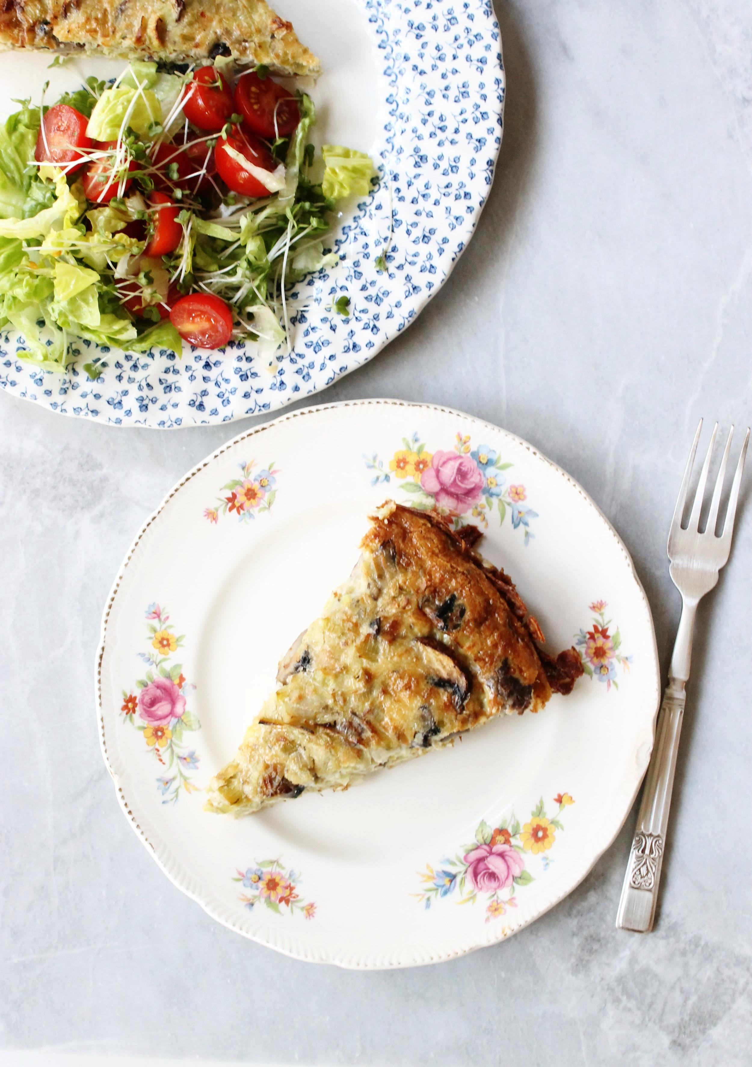 Leek and mushroom quiche (gluten free) | Beloved Kitchen