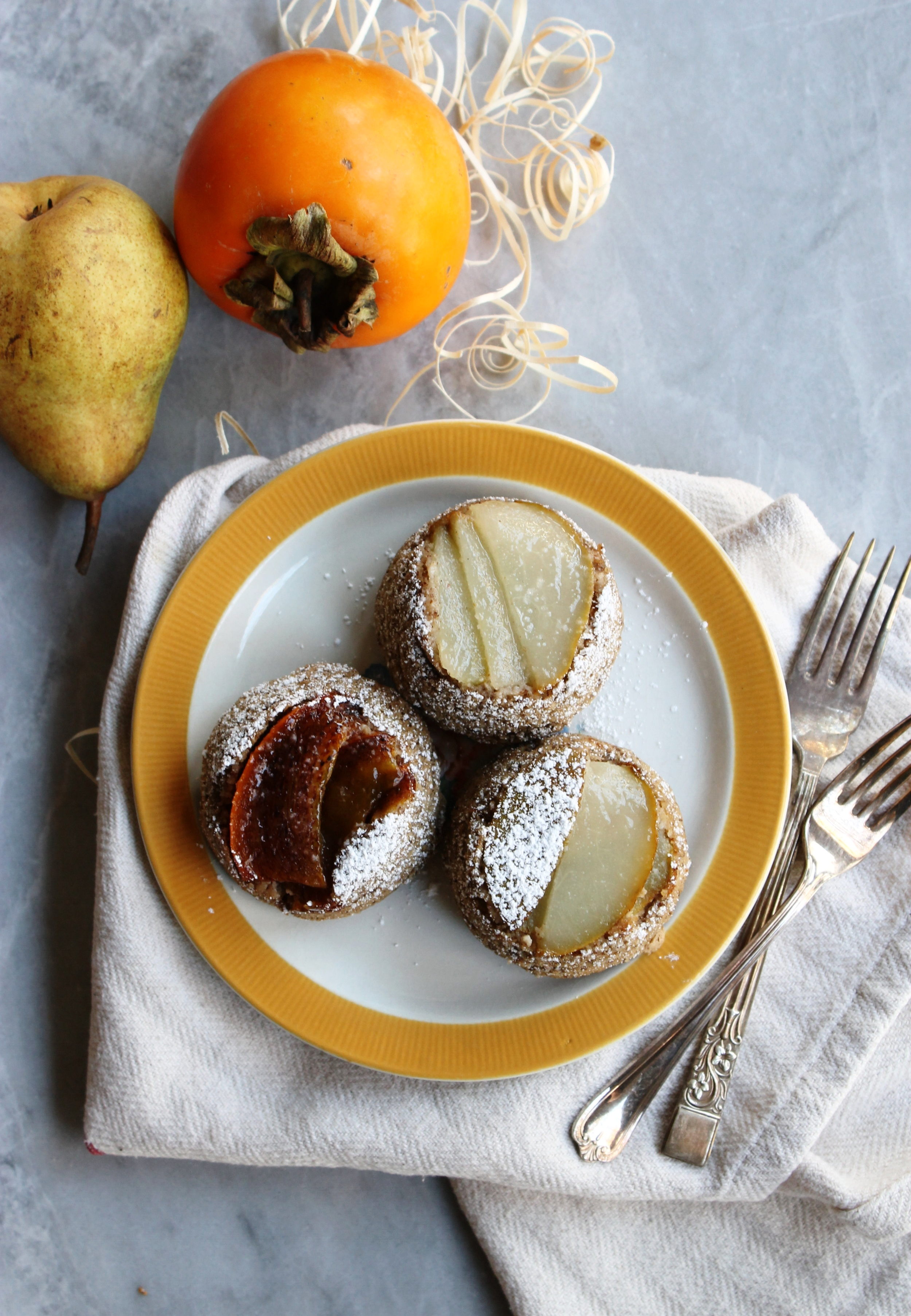 Pear & persimmon cakes | Beloved Kitchen