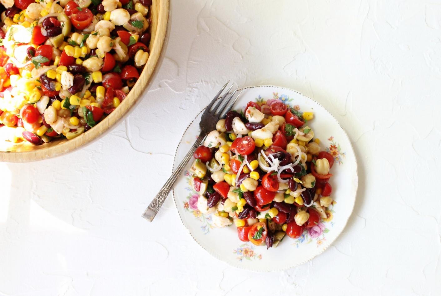 Summer mixed bean salad   Beloved Kitchen