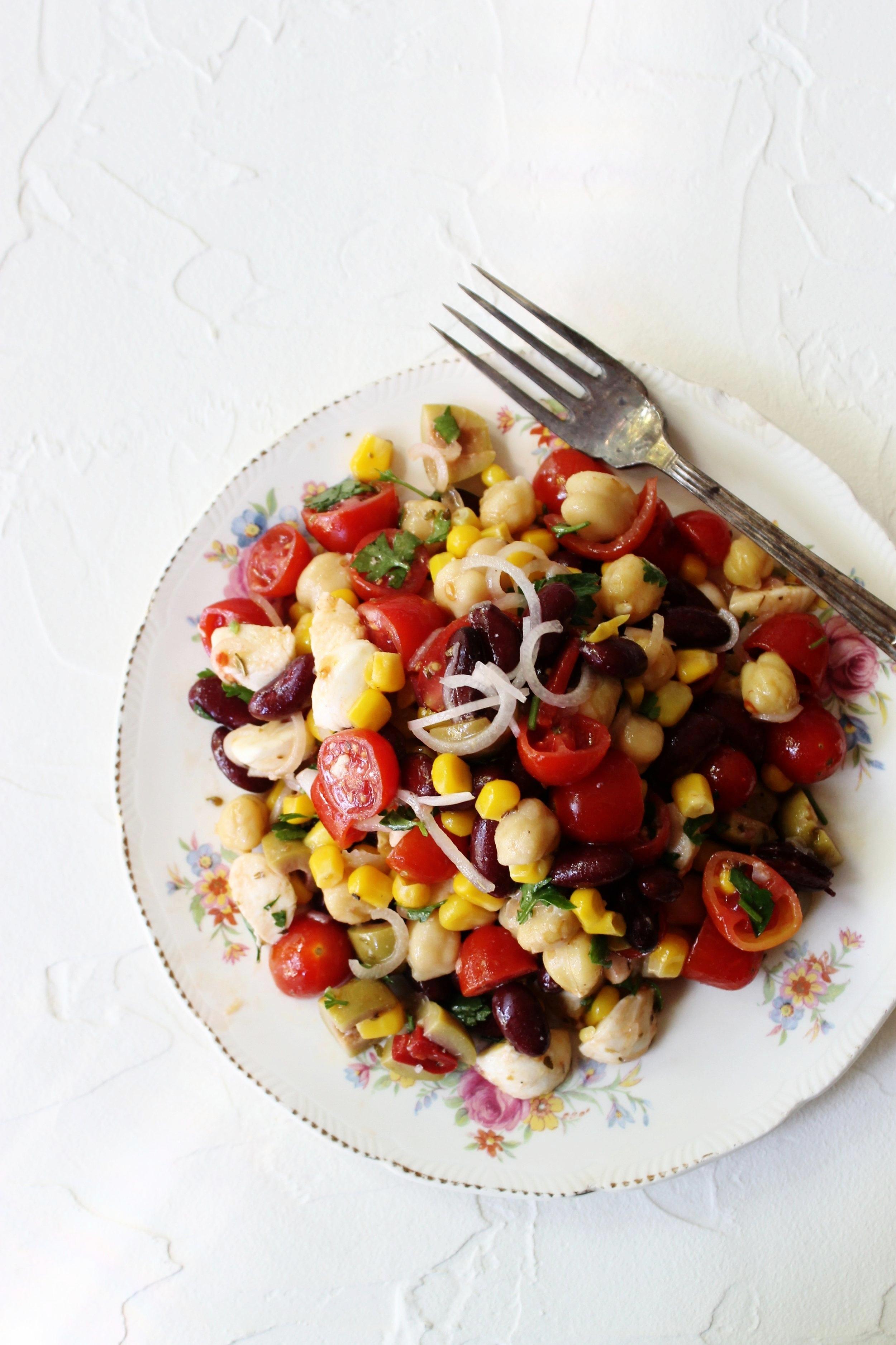 Summery bean salad   Beloved Kitchen