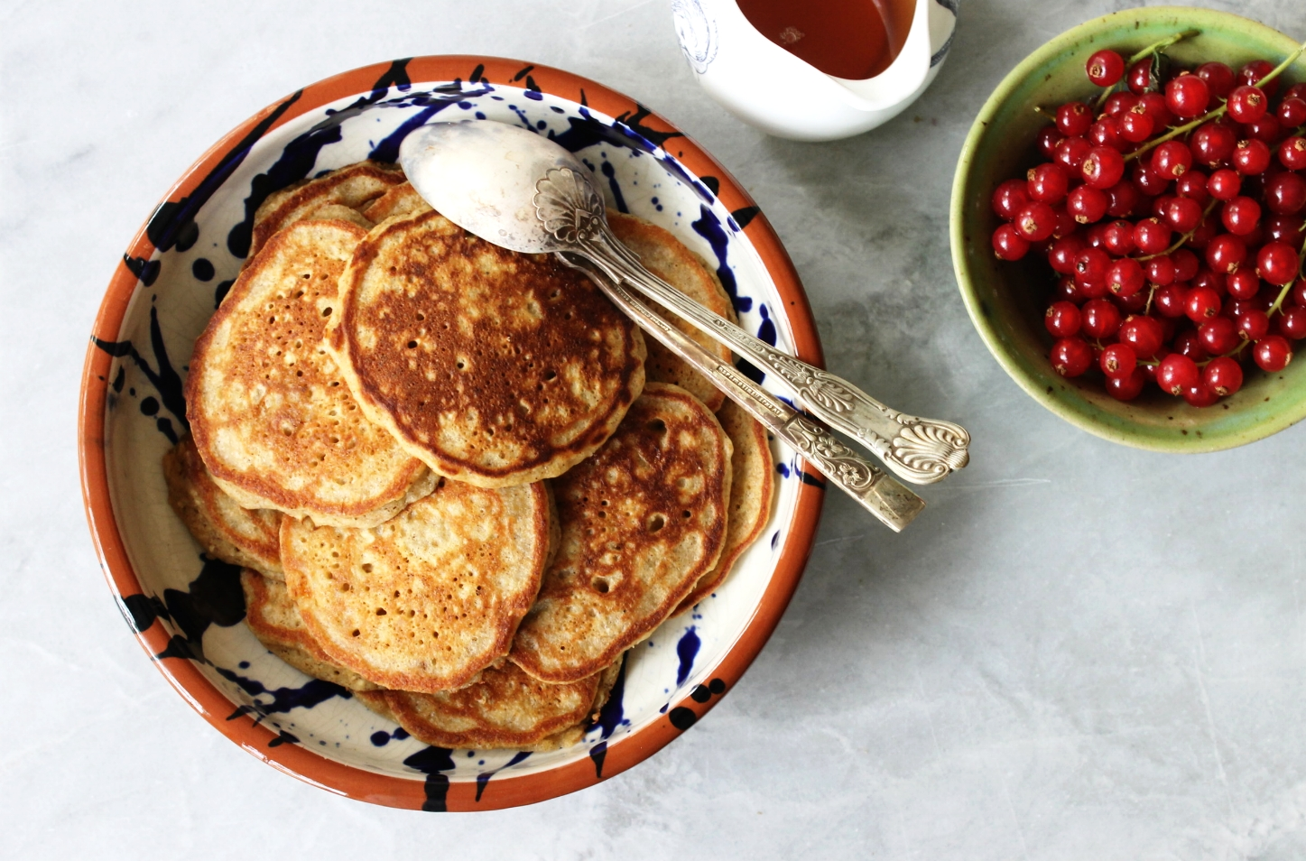 Banana oat pancakes {gluten free} | Beloved Kitchen