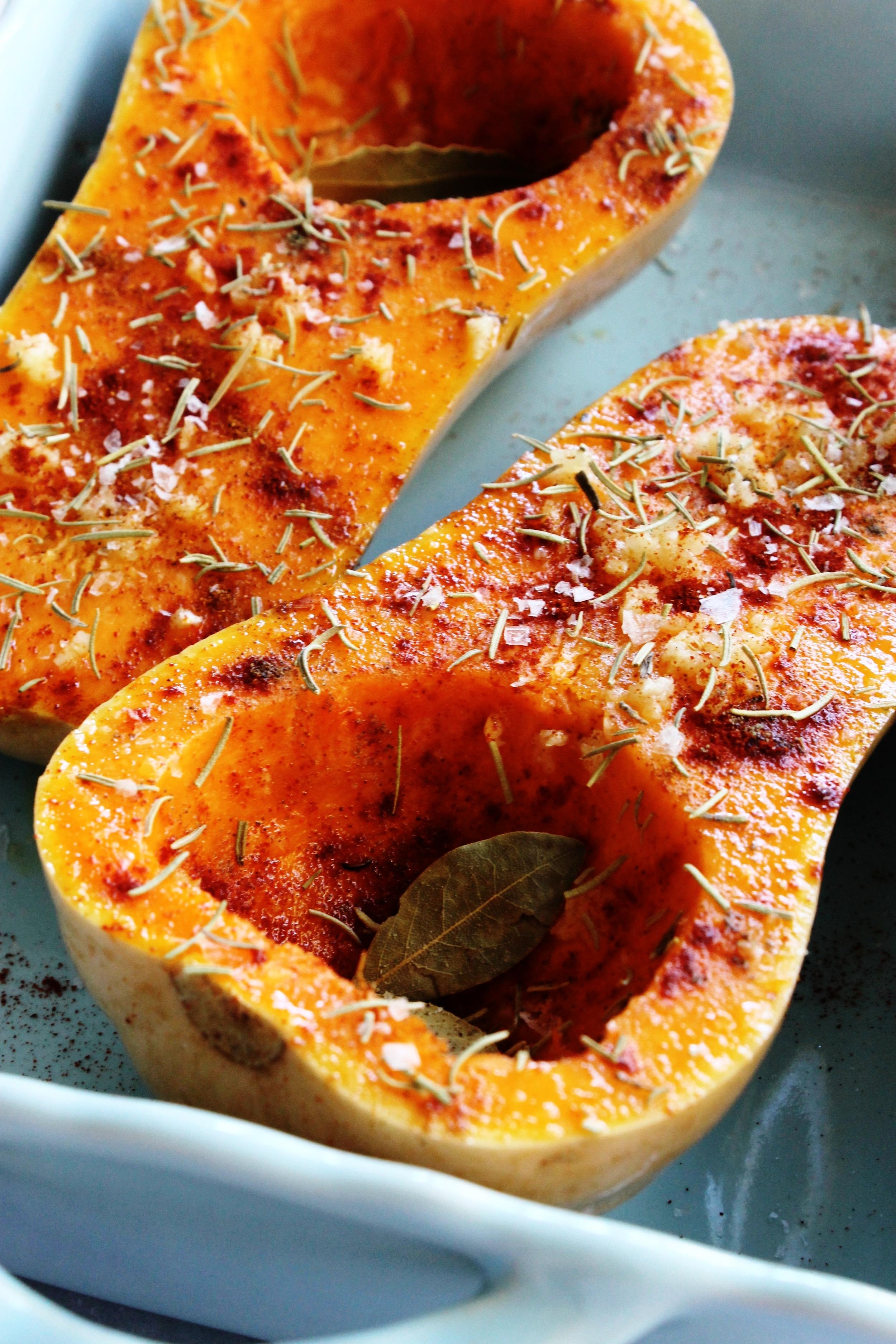 Spiced baked feta in squash bowls | Beloved Kitchen